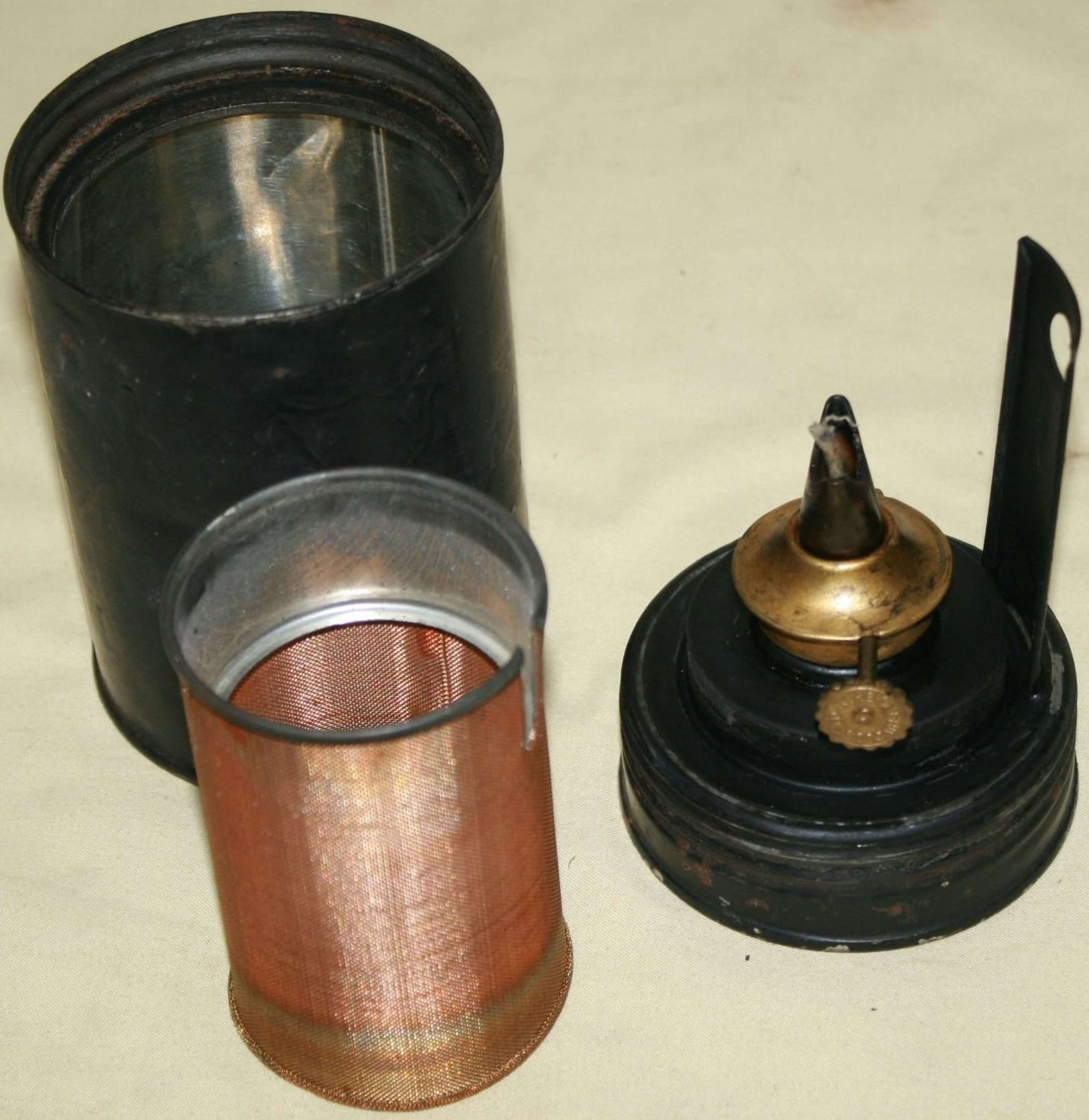 A 1945 DATED TENT HEATER