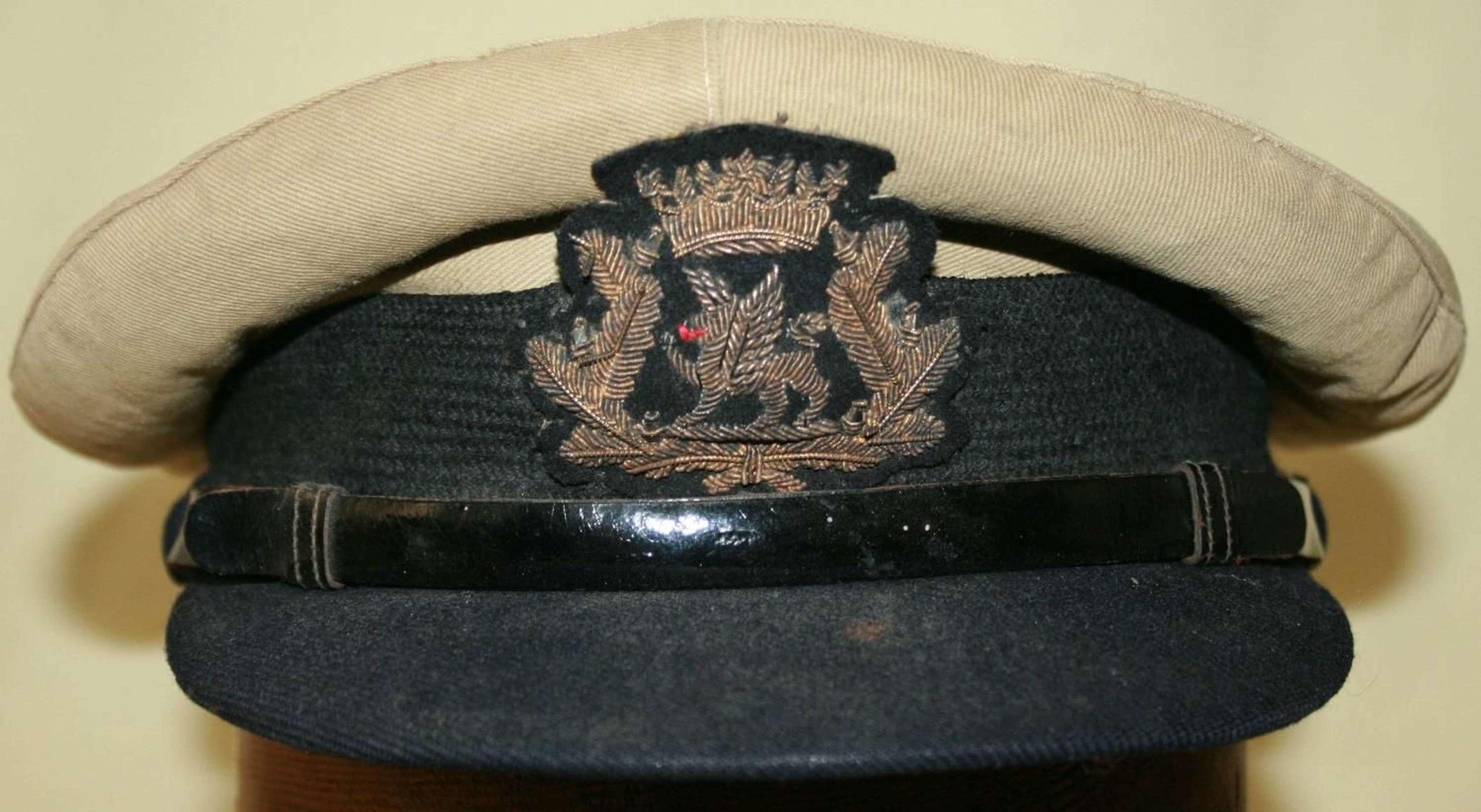 A BOAC WWII PERIOD OFFICERS CAP