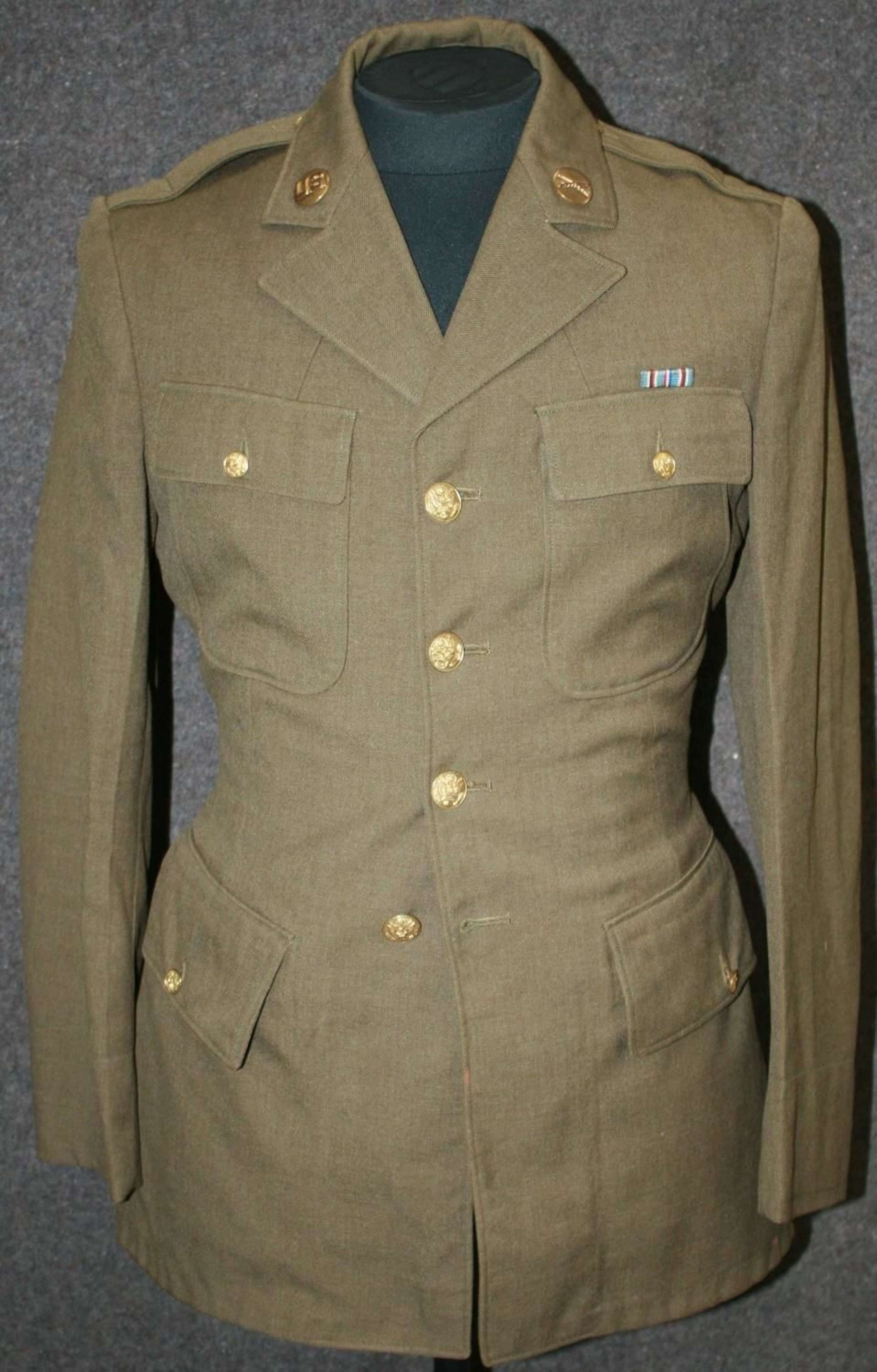 A PRE WWII ( WELL BEFORE THEY JOINED IT ) ENLISTED MANS 4 POCKET TUNIC