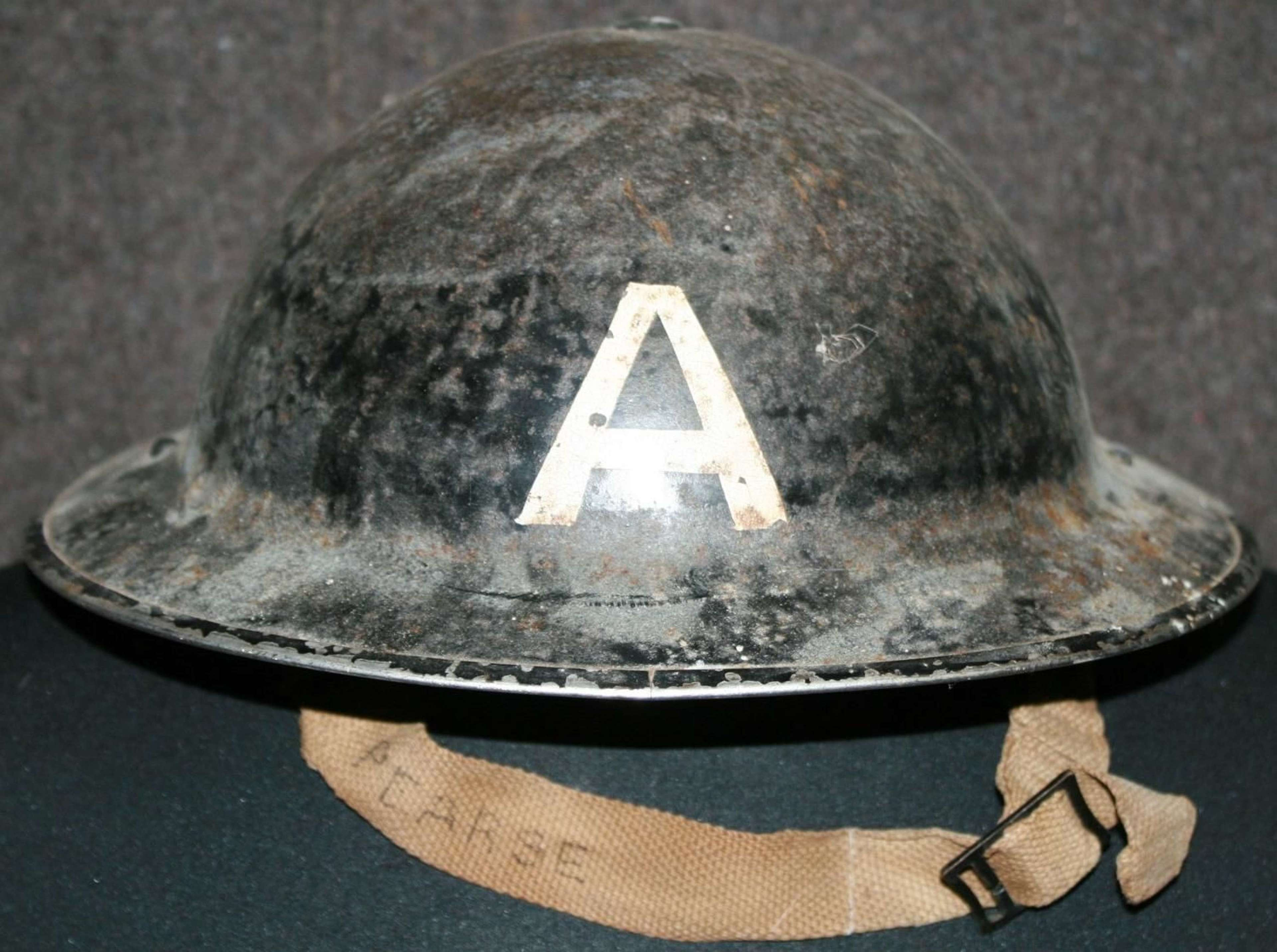 A USED WWII ( 1939 ) AMBULANCE CREW TOMMY HELMET