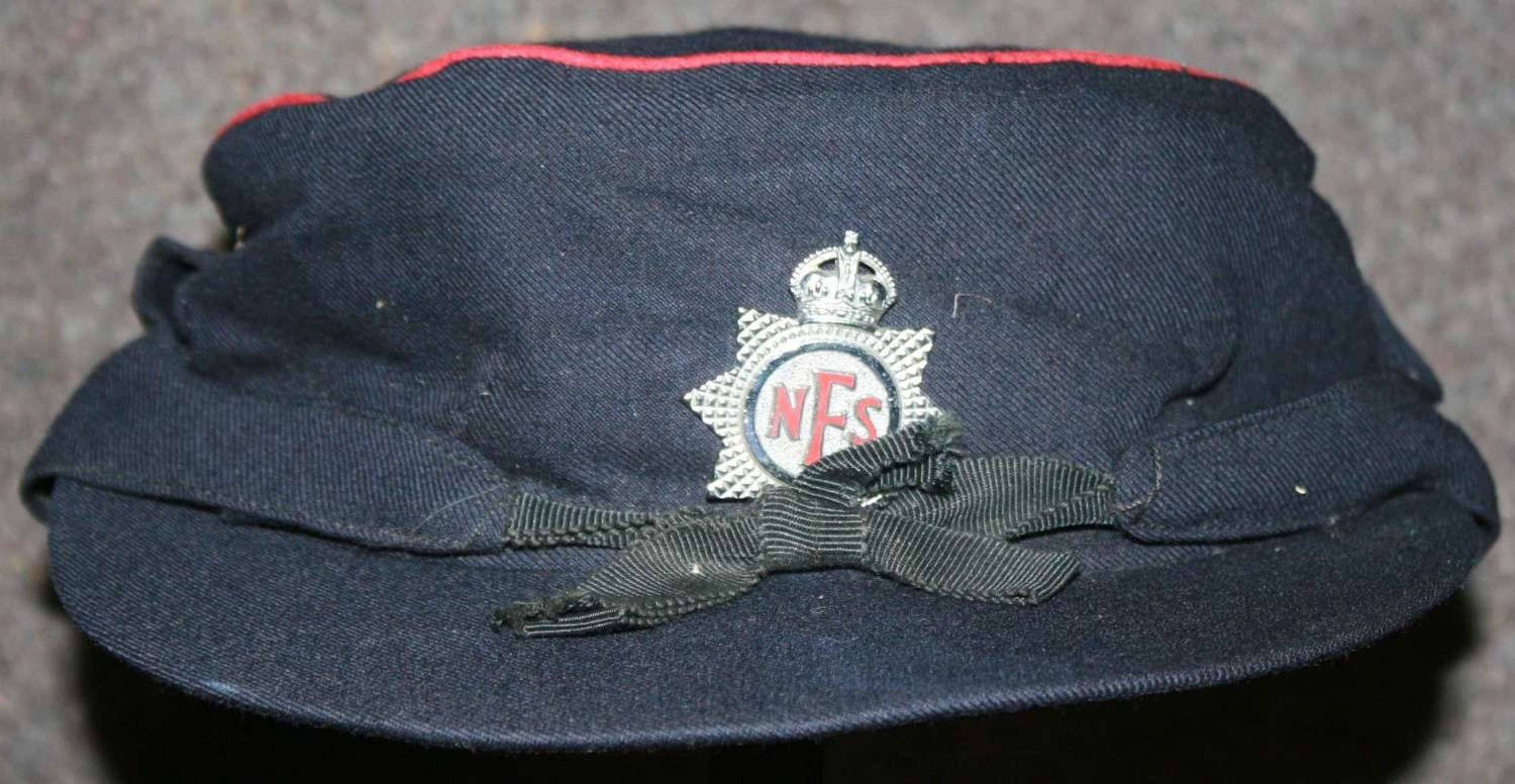 A WWII 1943 DATED WOMAN'S AFS CAP