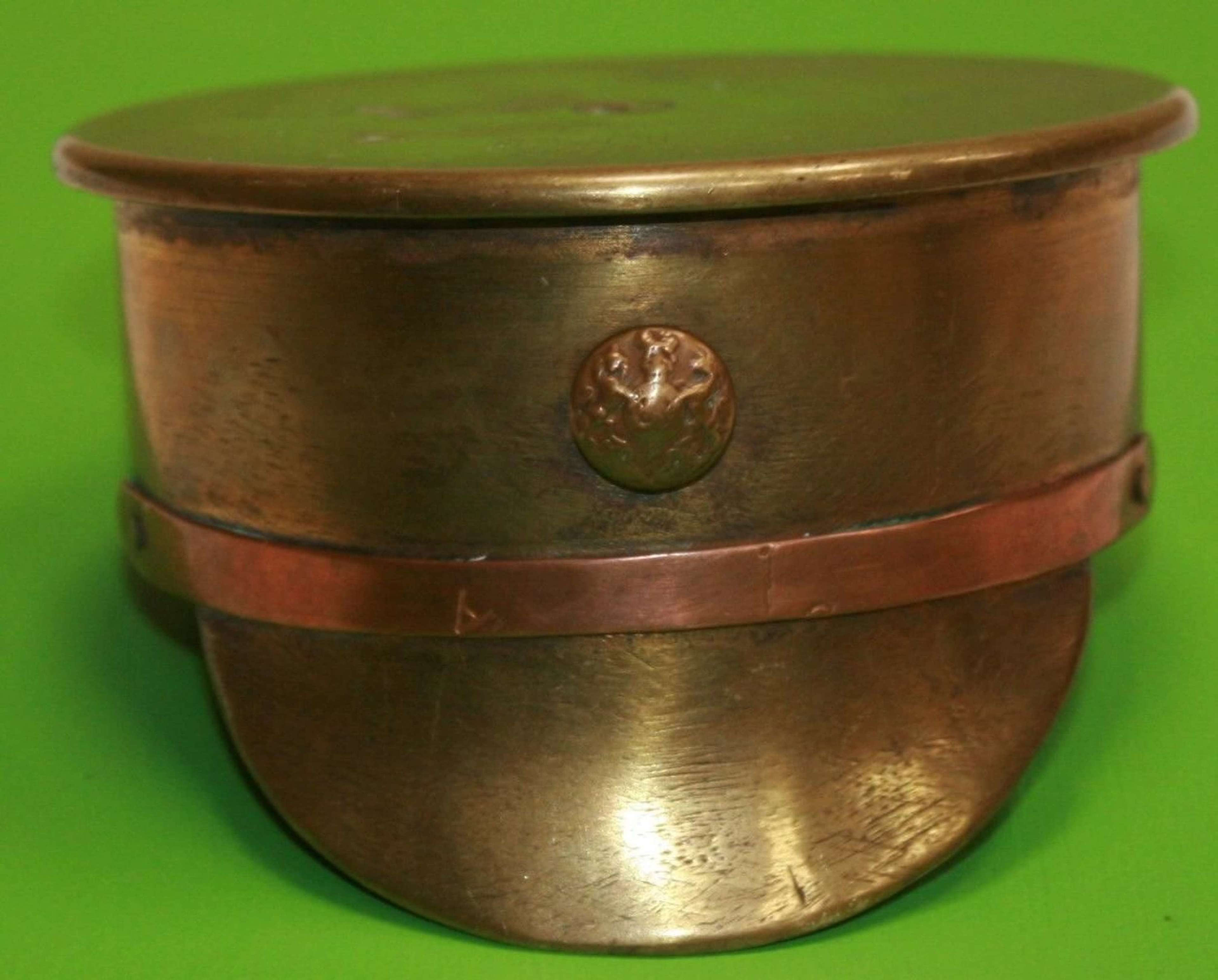 A 1917 DATED TRENCH ART CAP