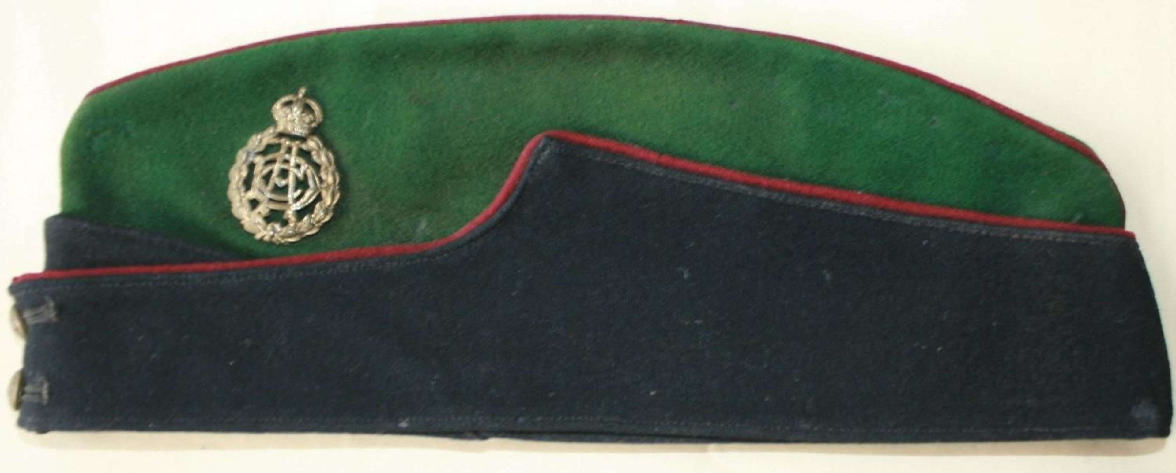 A WWII PERIOD OTHER RANKS ARMY DENTAL CORPS SIDE CAP