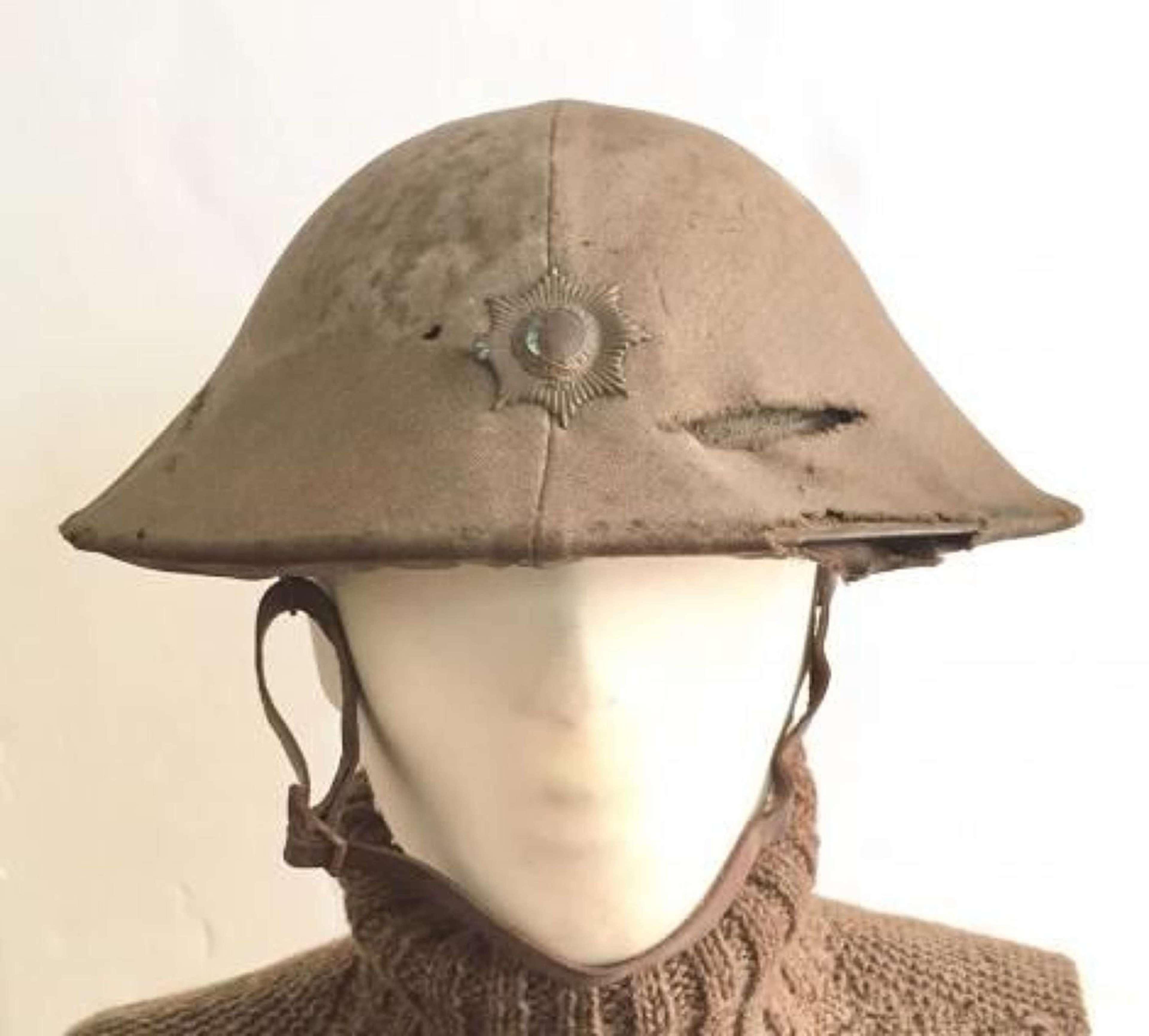 WW1 Coldstream Guards Brodie Helmet with Original Cover.