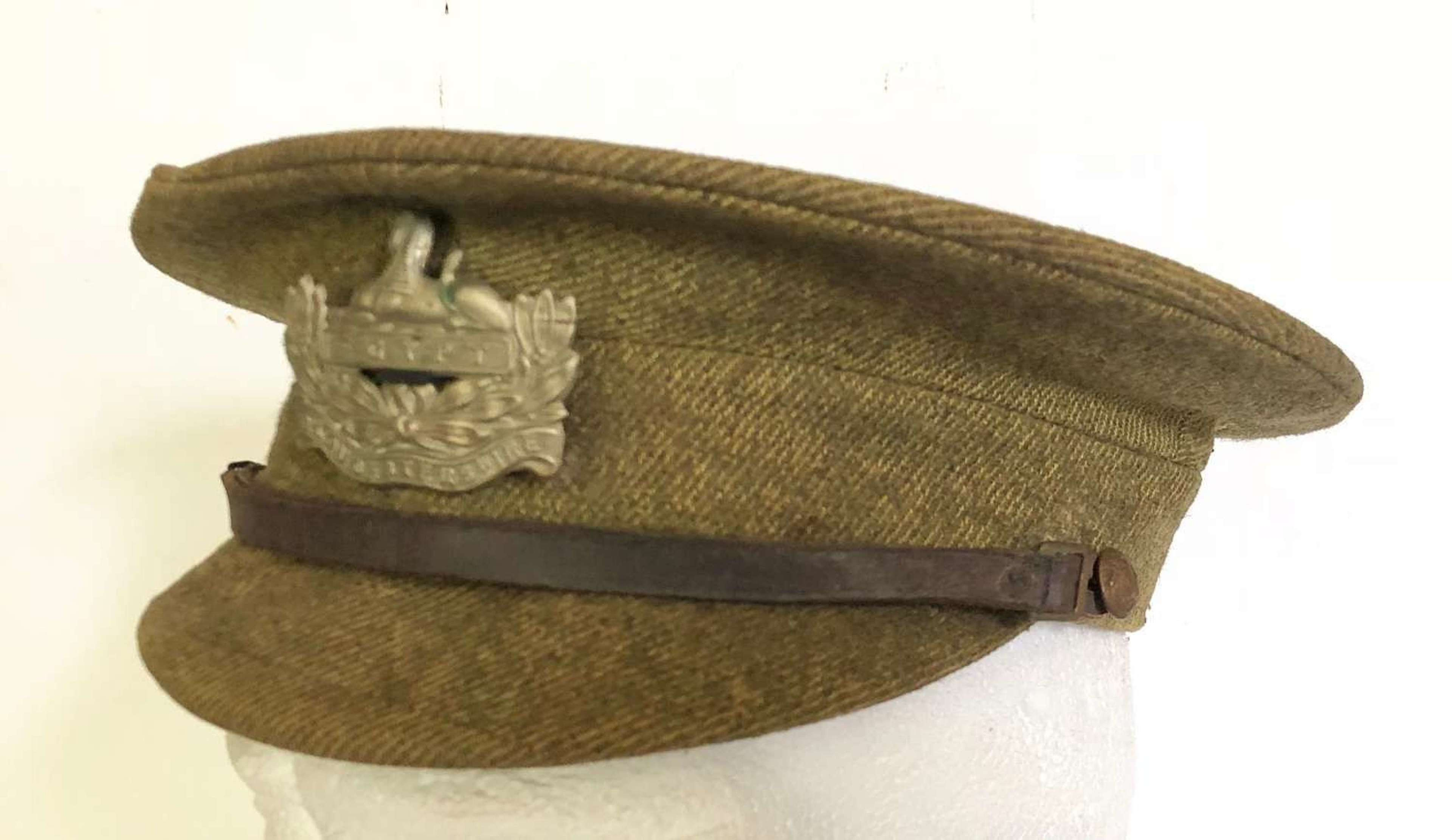"WW1 Gloucestershire Regiment 1905 Pattern ""Stiff"" Cap."