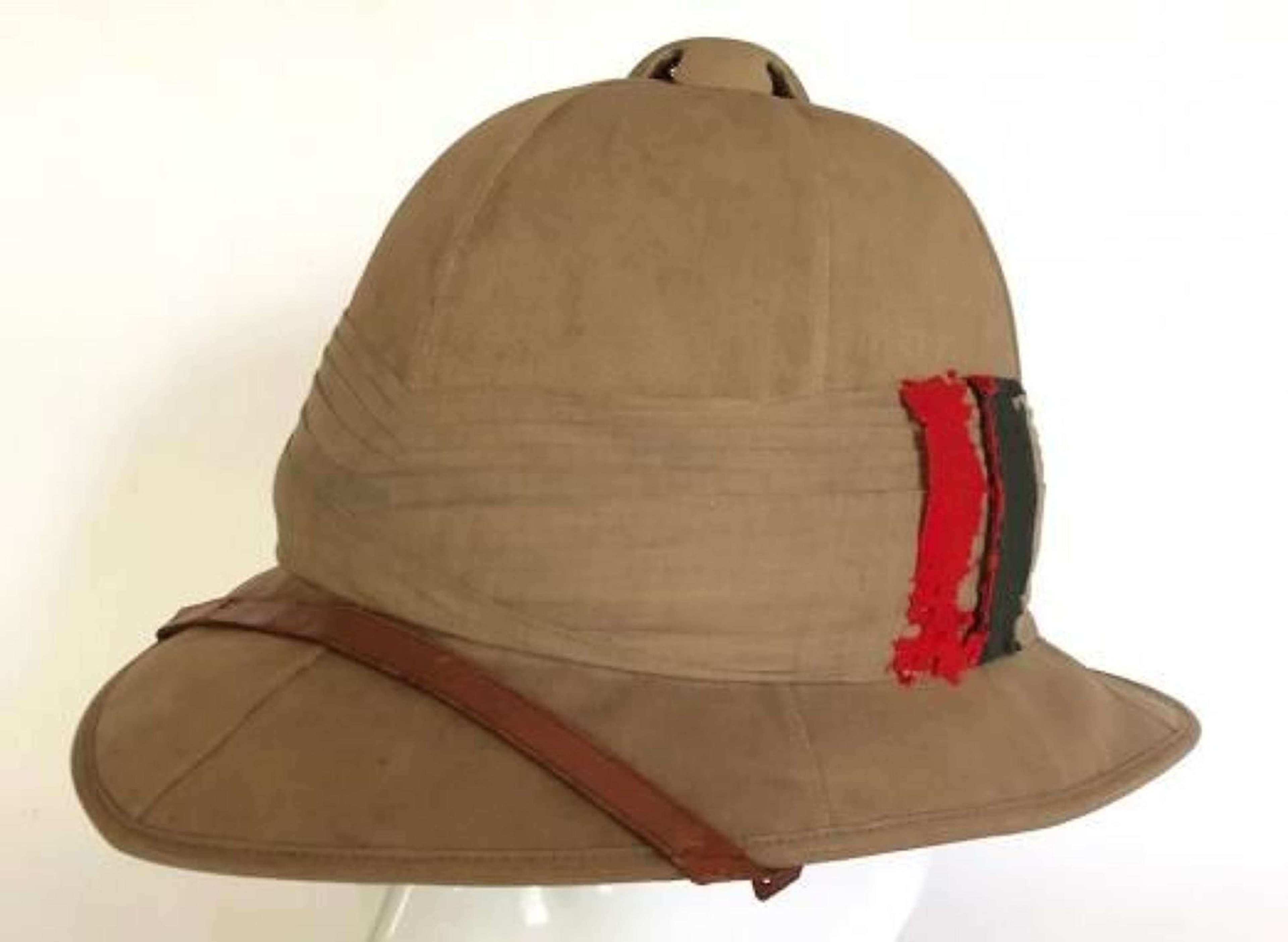 WW1 Interwar  Period Wolseley Pattern Sun Helmet Singapore