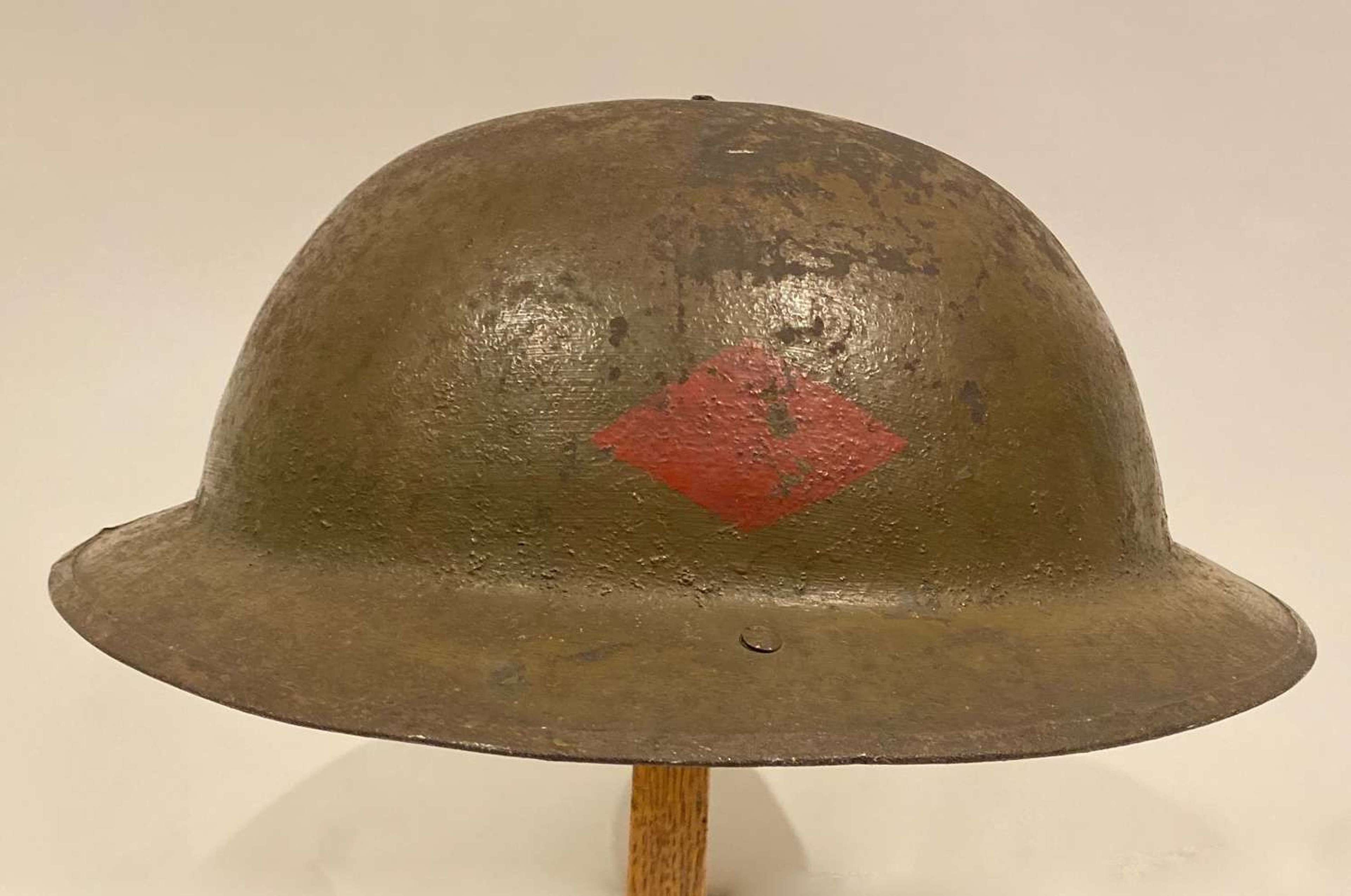 WW1 Personalised Unit Marked Brodie Steel Helmet Royal Sussex Regiment