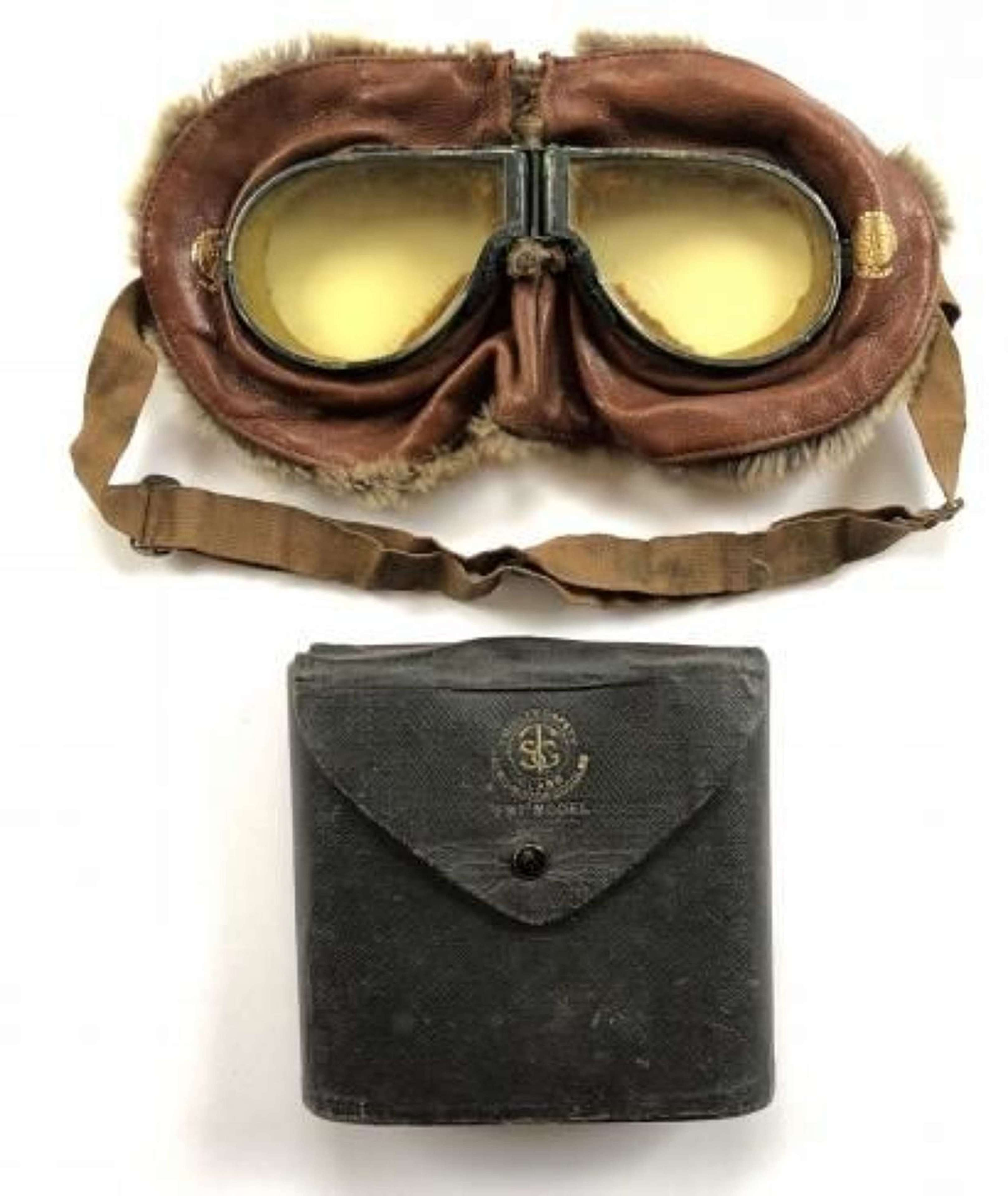 WW1 Royal Flying Corps Triplex Flying Mask Goggles.