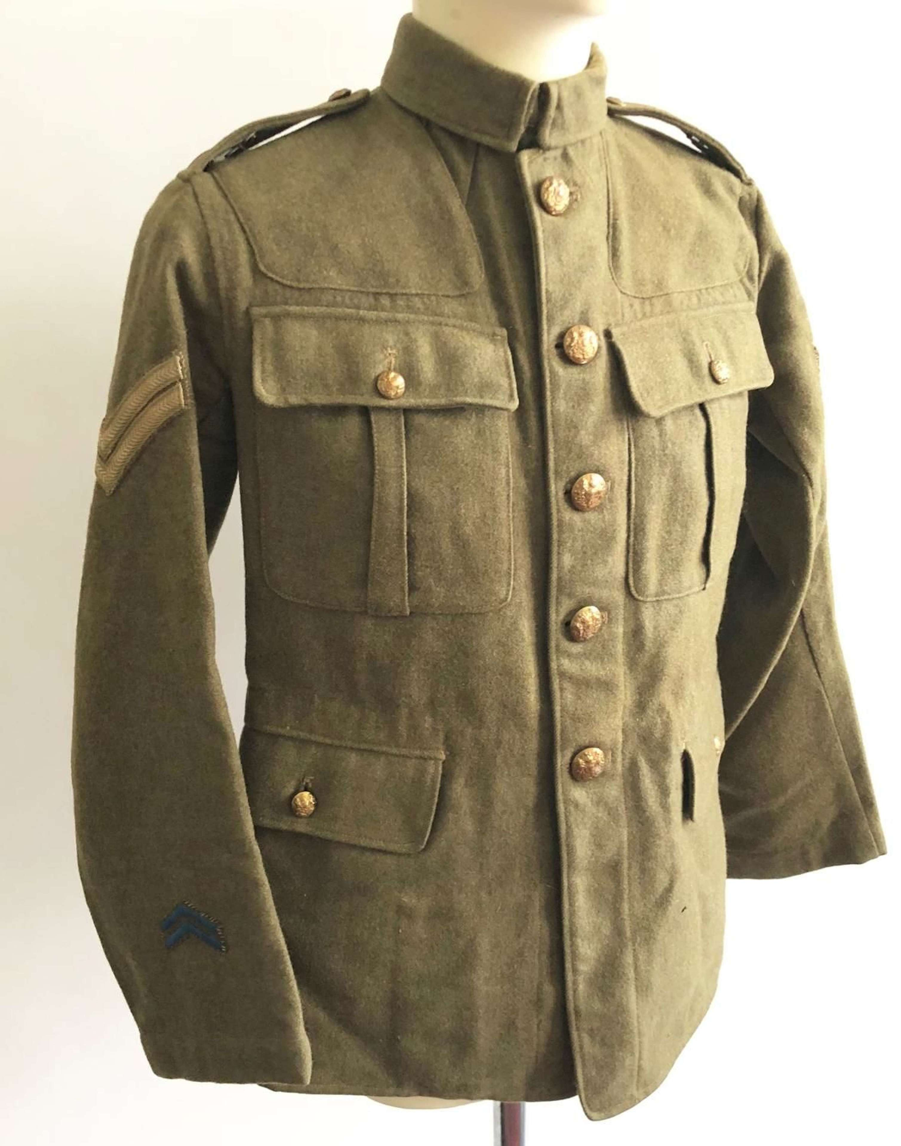 WW1 West Riding Territorial Army Service Corps Attributed Trench Tunic