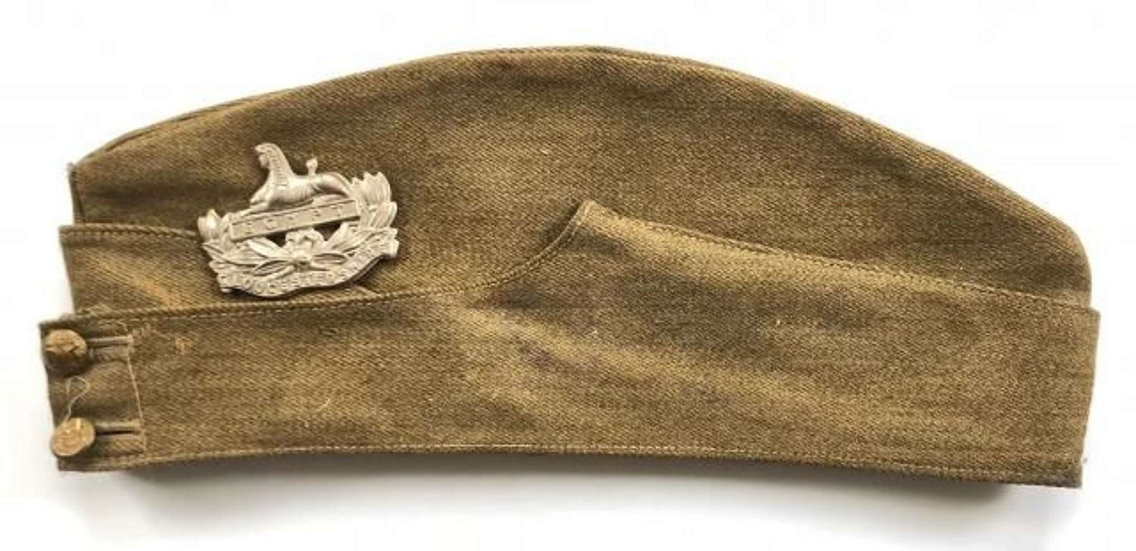 WW2 1939 Gloucestershire Regiment Other Rank's Side Cap Both Badges