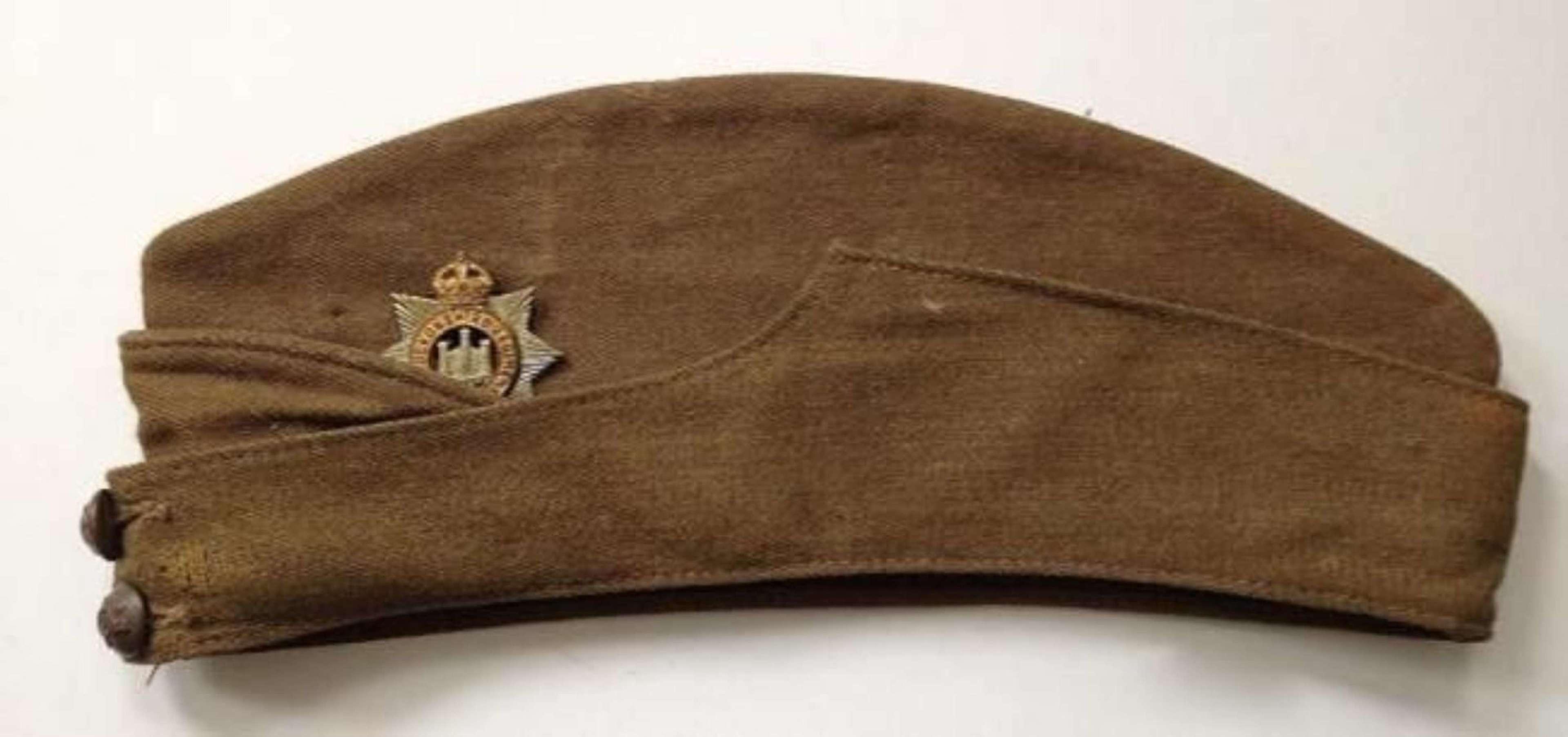 WW2 1943 Devonshire Regiment Other Ranks Side Cap.