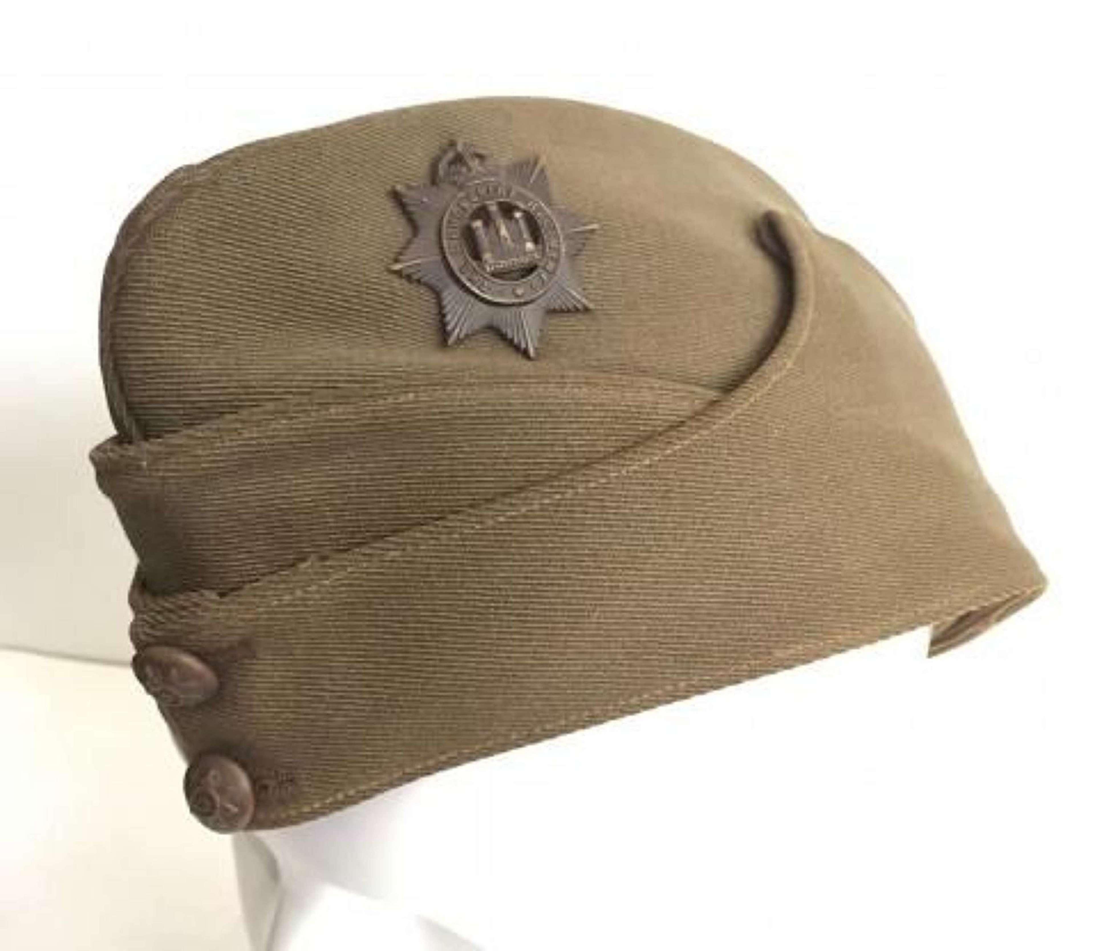 WW2 Devonshire Regiment Officer's Side Cap.