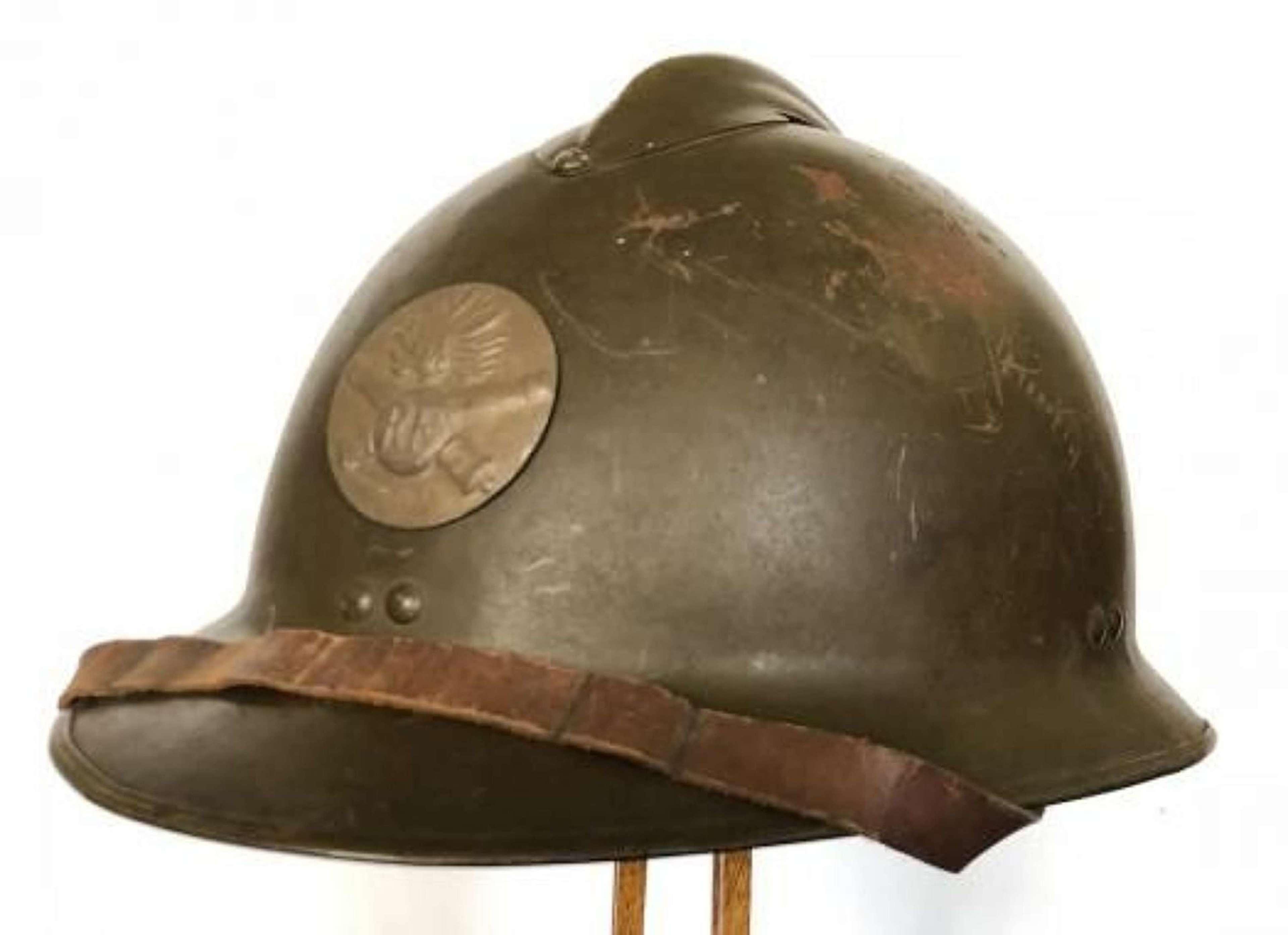 WW2 Pattern Battle of France Period French Artillery Helmet.