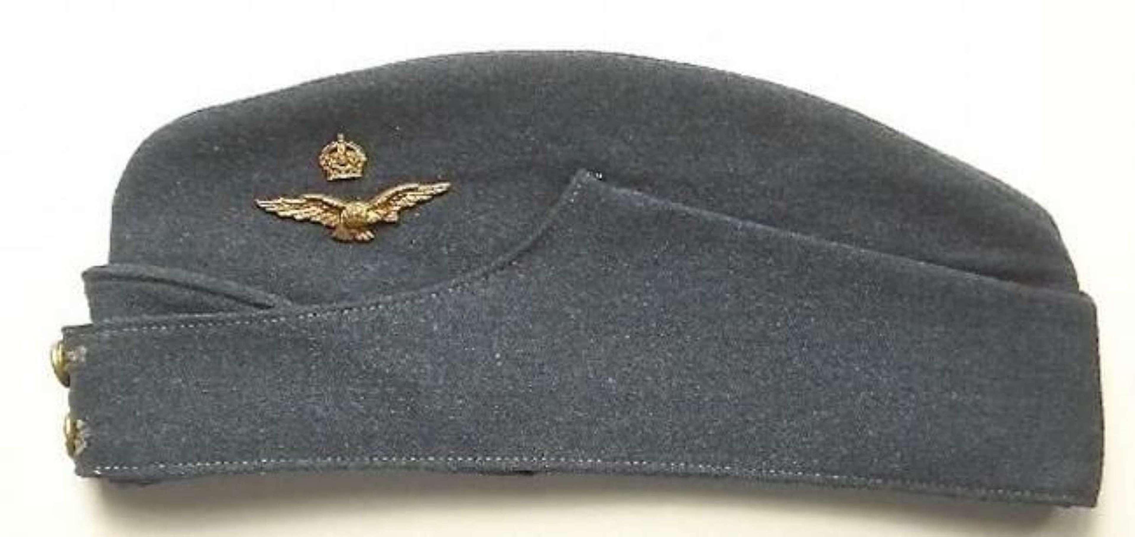 WW2 Period RAF Officers Side Cap.