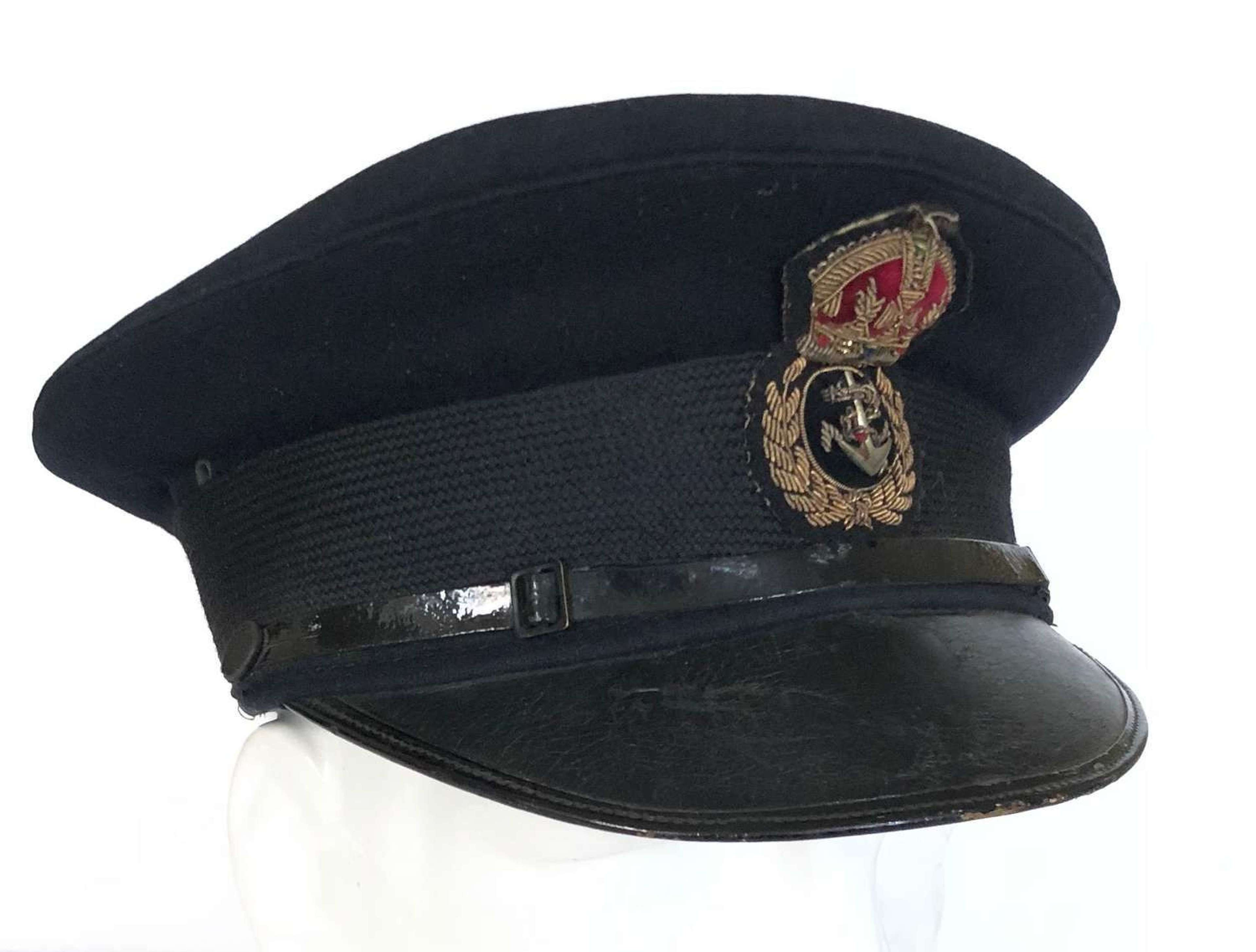 WW2 Period Royal Navy Chief Petty Officer Peaked Forage Cap.