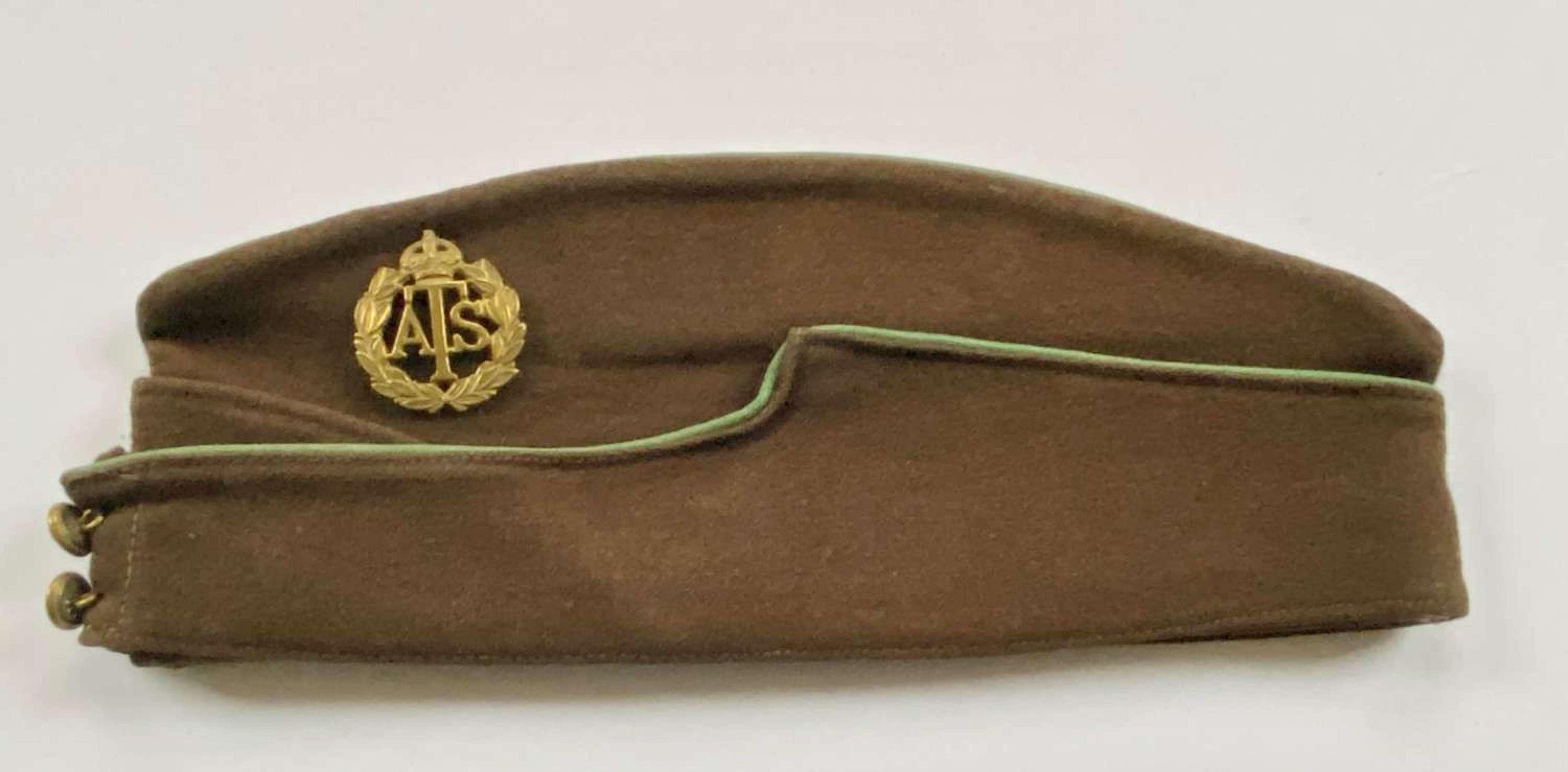 WW2 Women's ATS Coloured Field Service Side Cap.