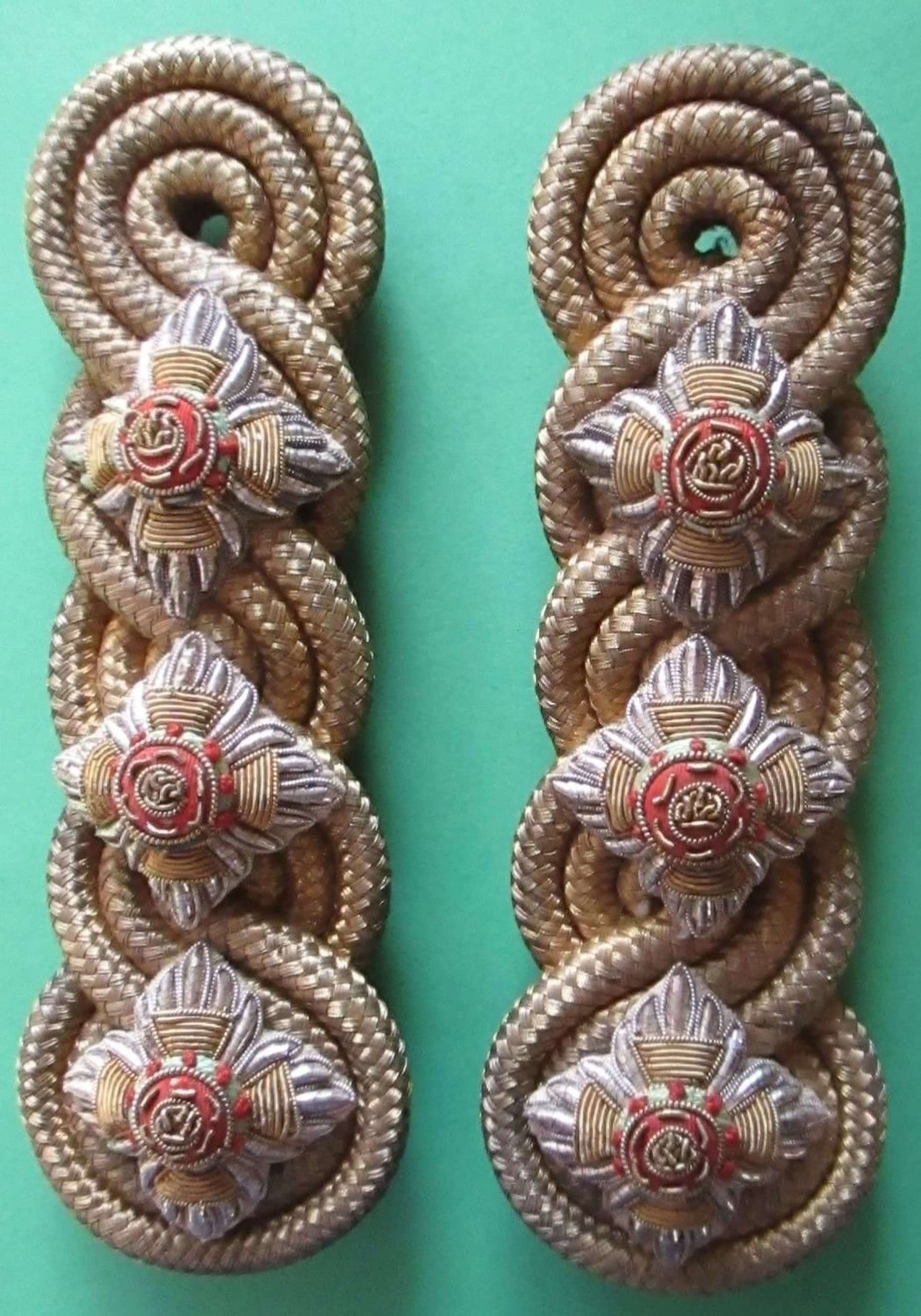 A PAIR OF CAPTAINS DRESS SHOULDER BOARDS