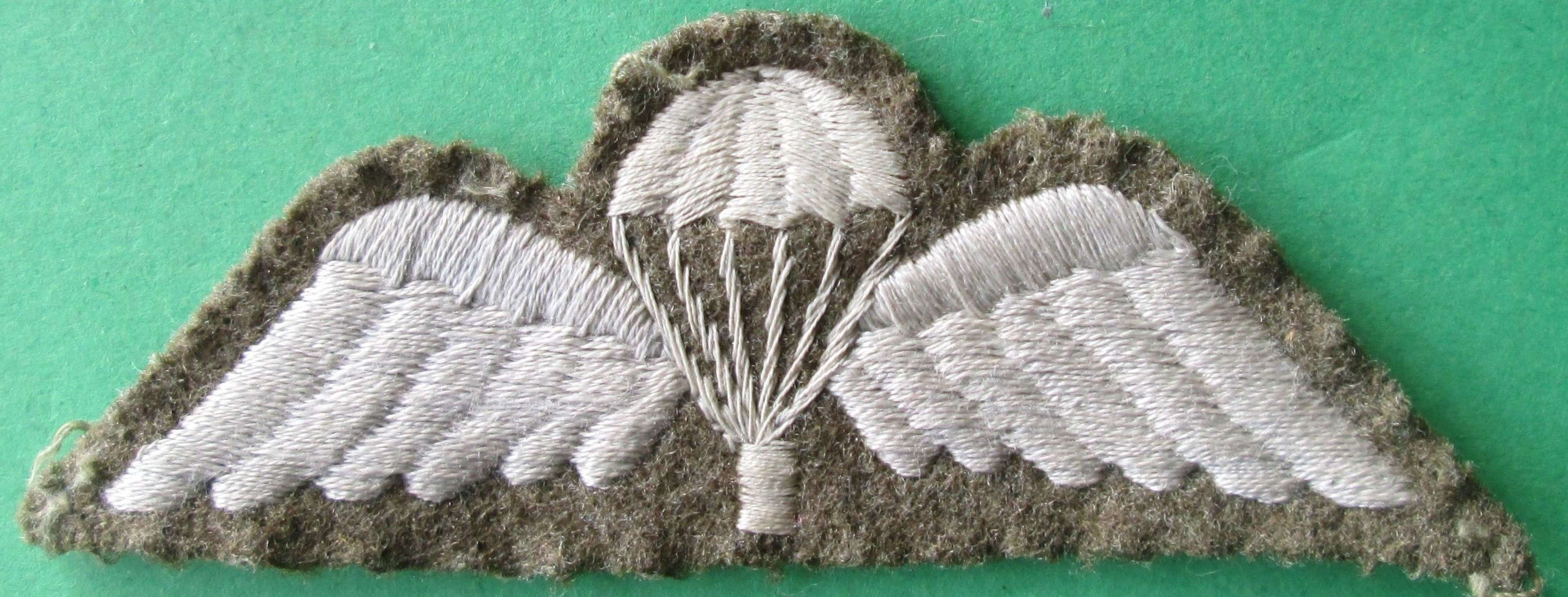 A WWII BRITISH ARMY JUMP WING IN VERY GOOD USED CONDITION
