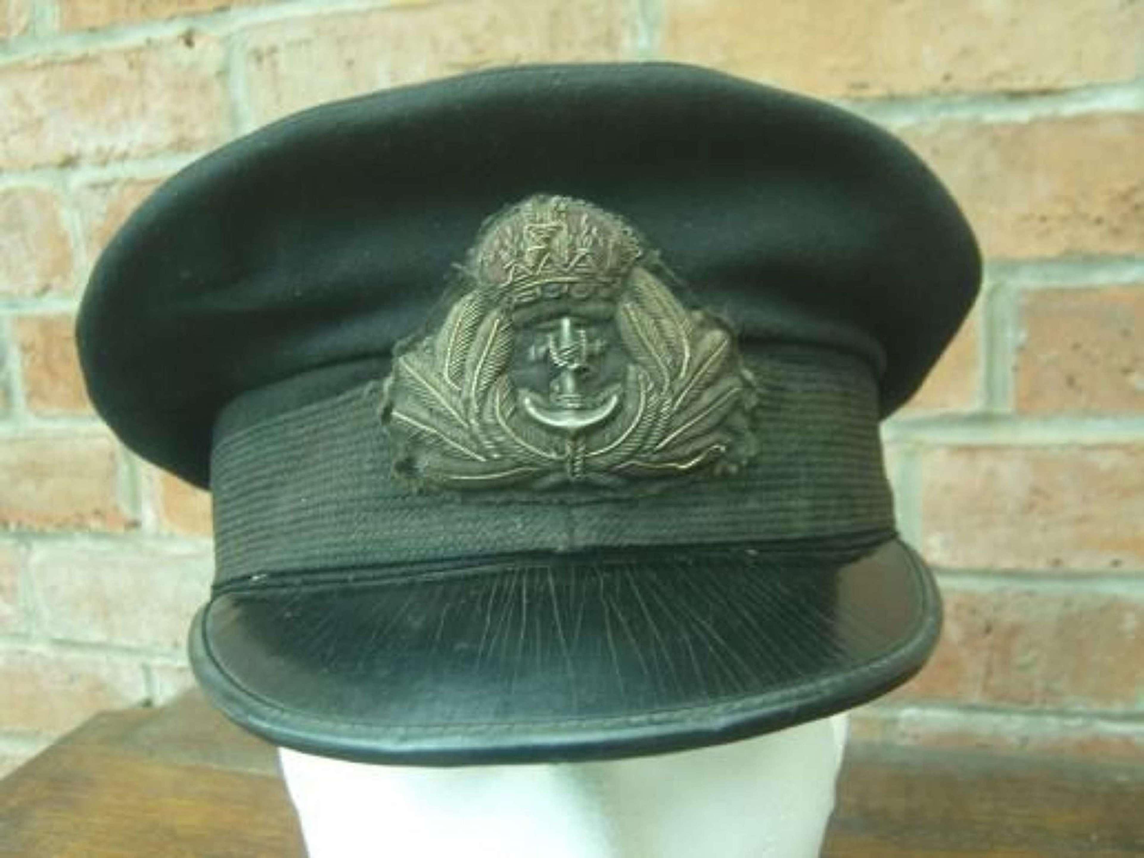 WW1 ROYAL NAVY OFFICERS PEAK CAP