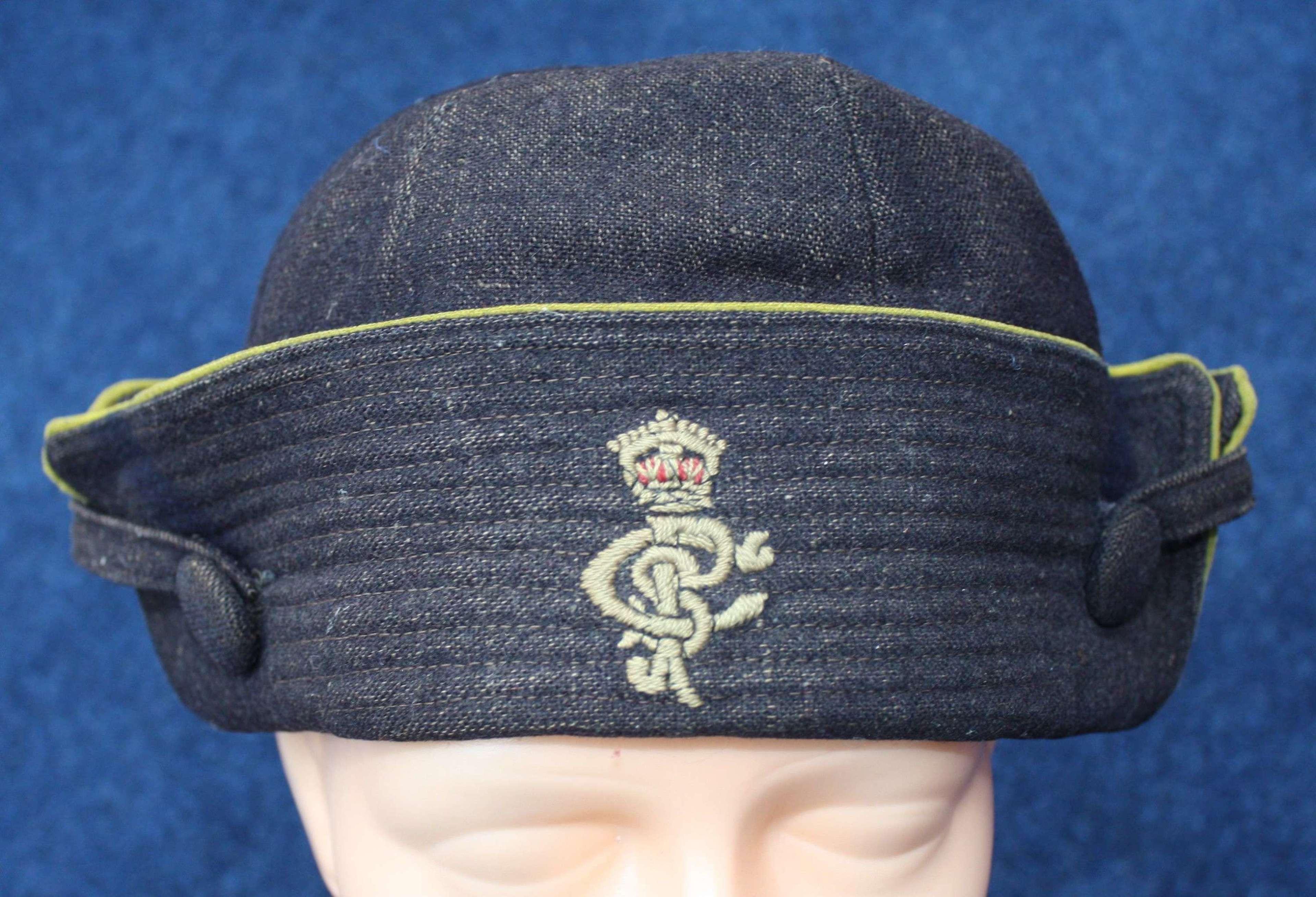WOMENS WW1 DARK BLUE & YELLOW CAP
