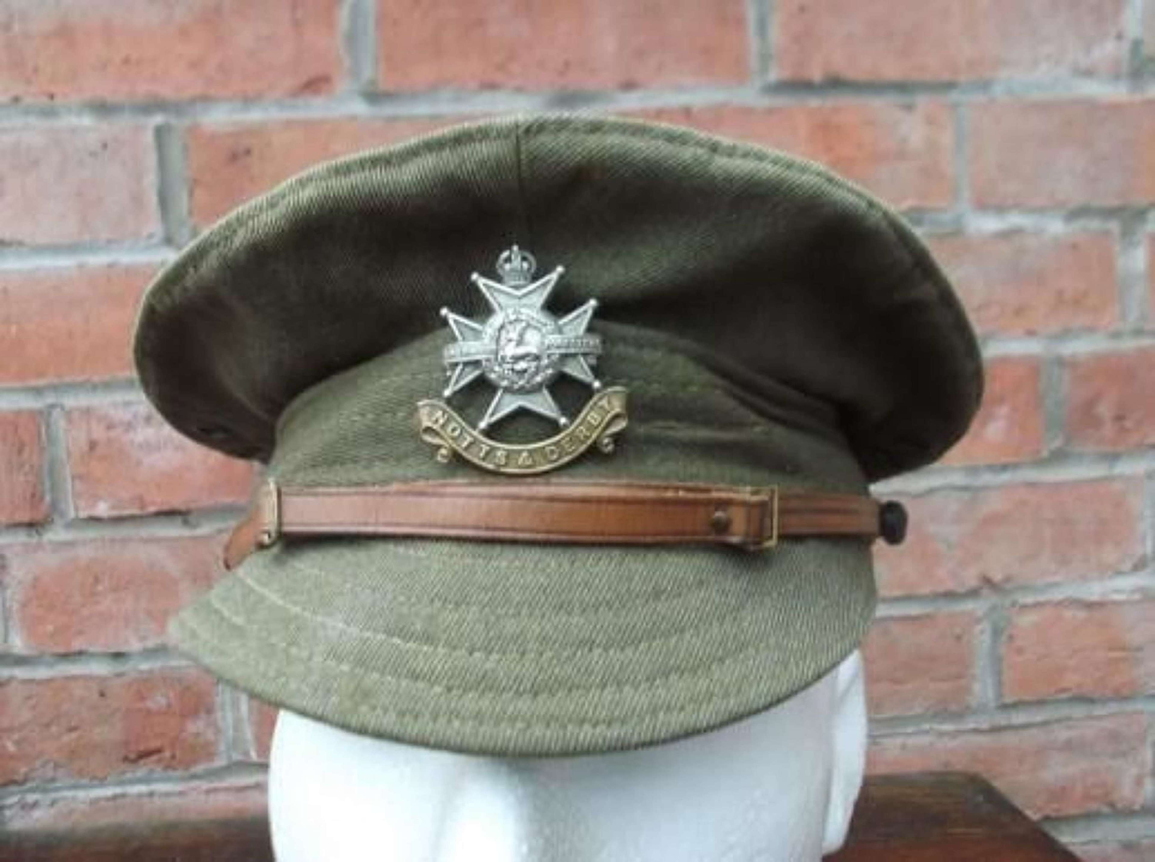 BRITISH WW1 OTHER RANKS DENIM TRENCH CAP