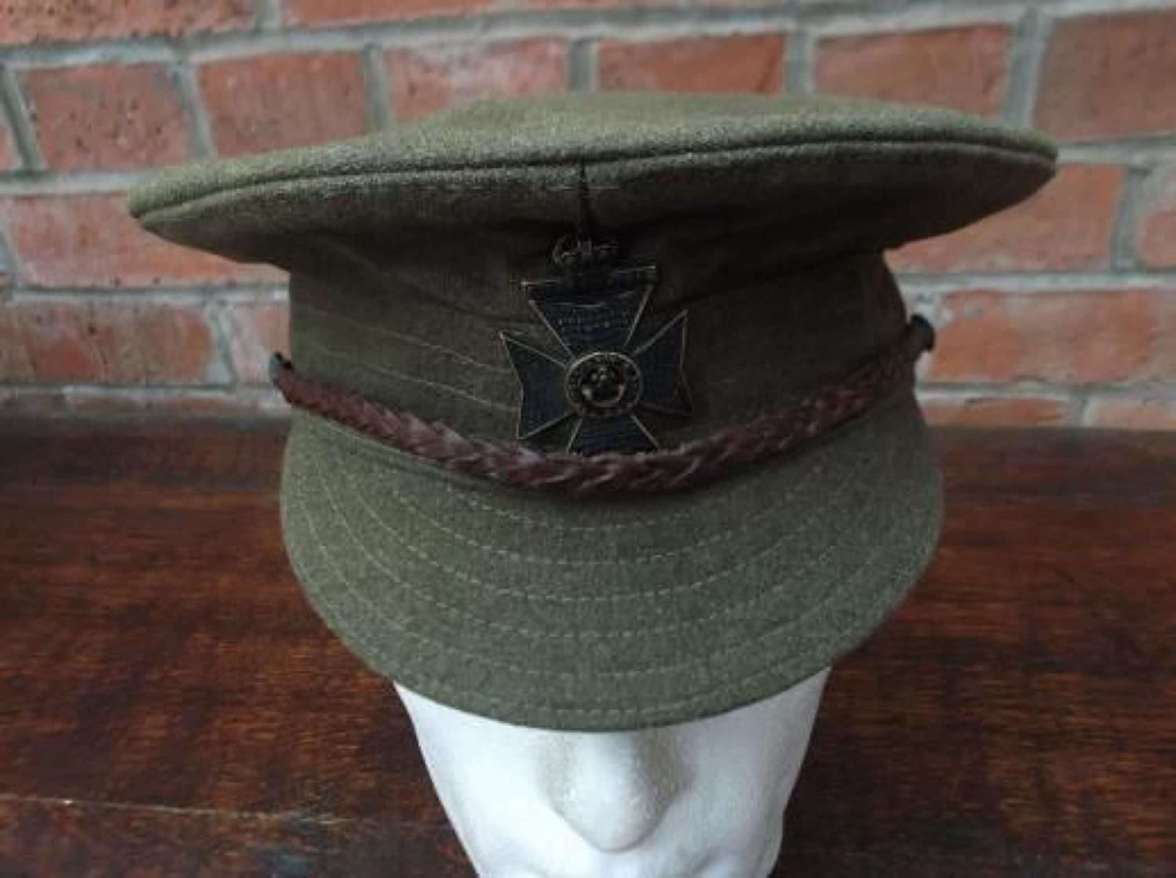 BRITISH WW1 OTHER RANKS WOOL TRENCH CAP KRRC