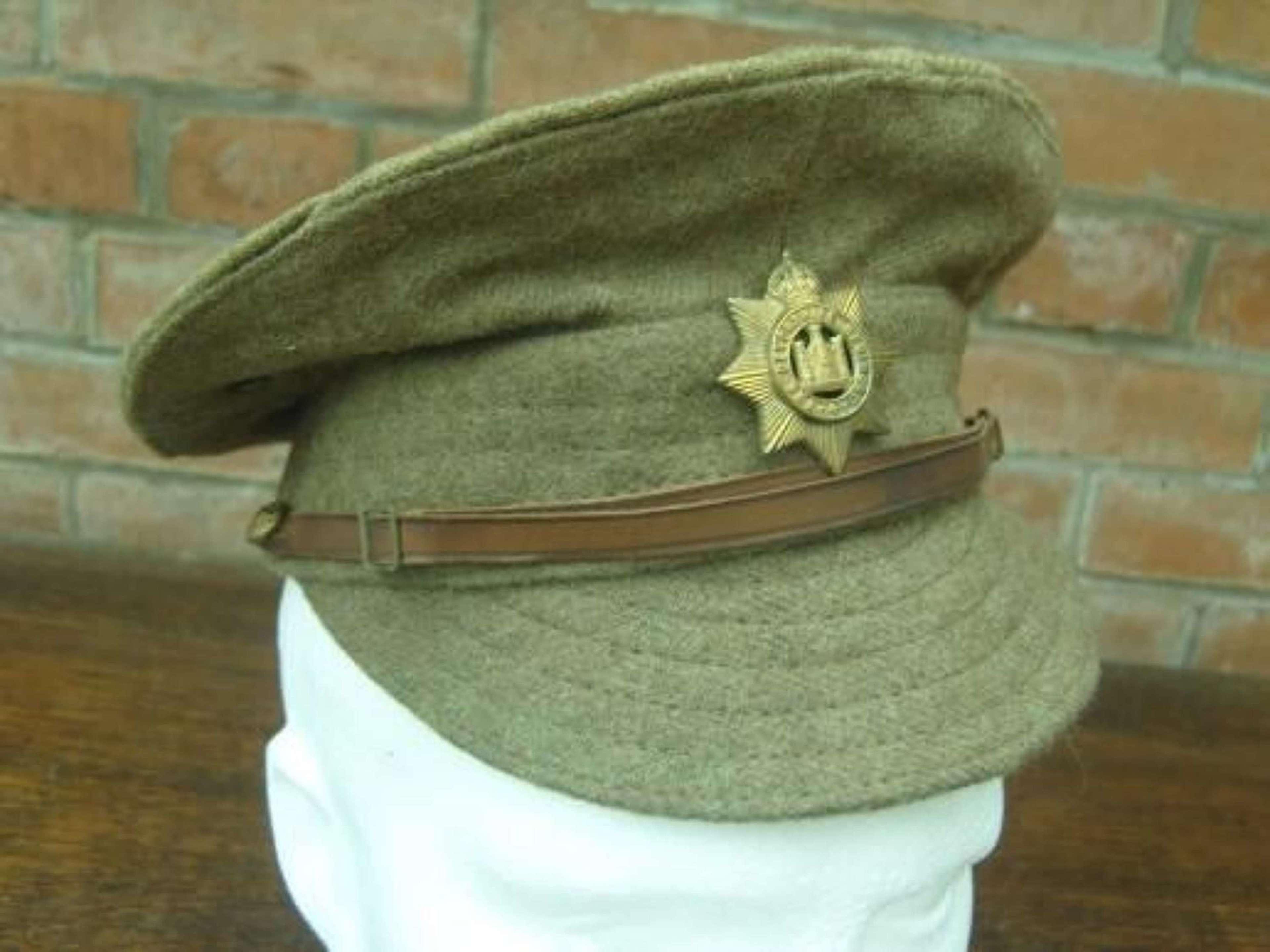 BRITISH WW1 OTHER RANKS WOOLLEN TRENCH CAP DEVONSHIRE