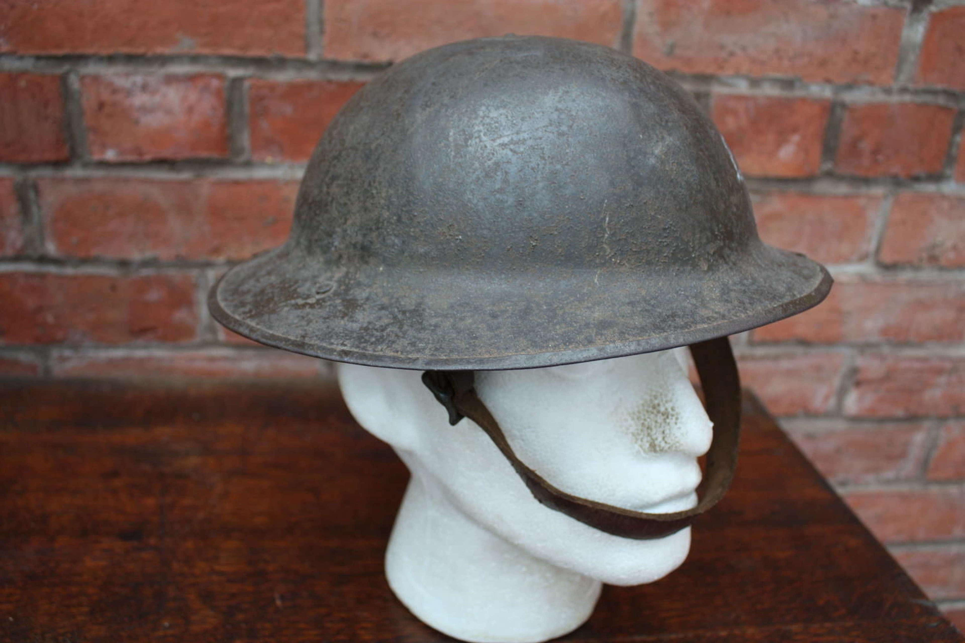 WW1 British Brodie Steel Helmet. HS 31.