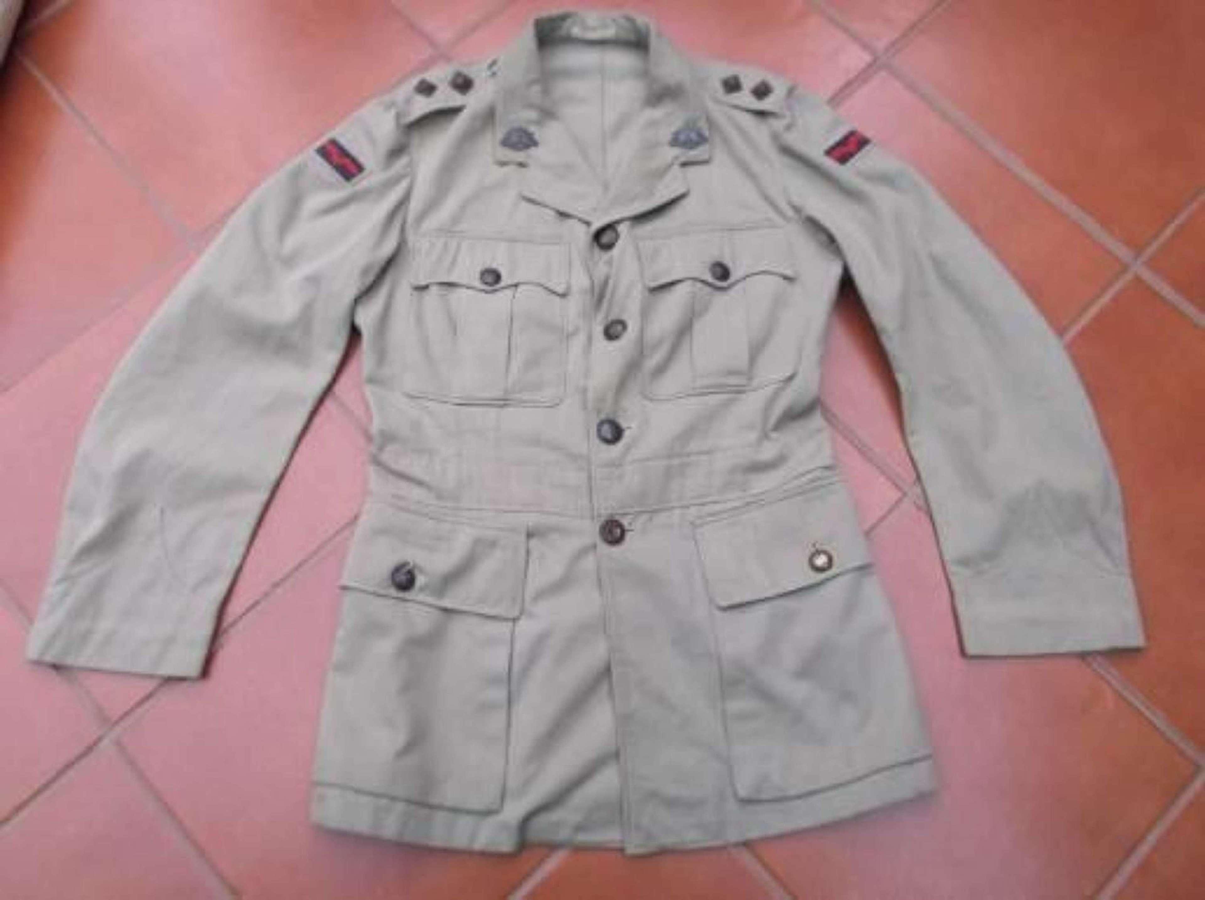 WW1 AUSTRALIAN OFFICERS KHAKI DRILL COTTON TUNIC