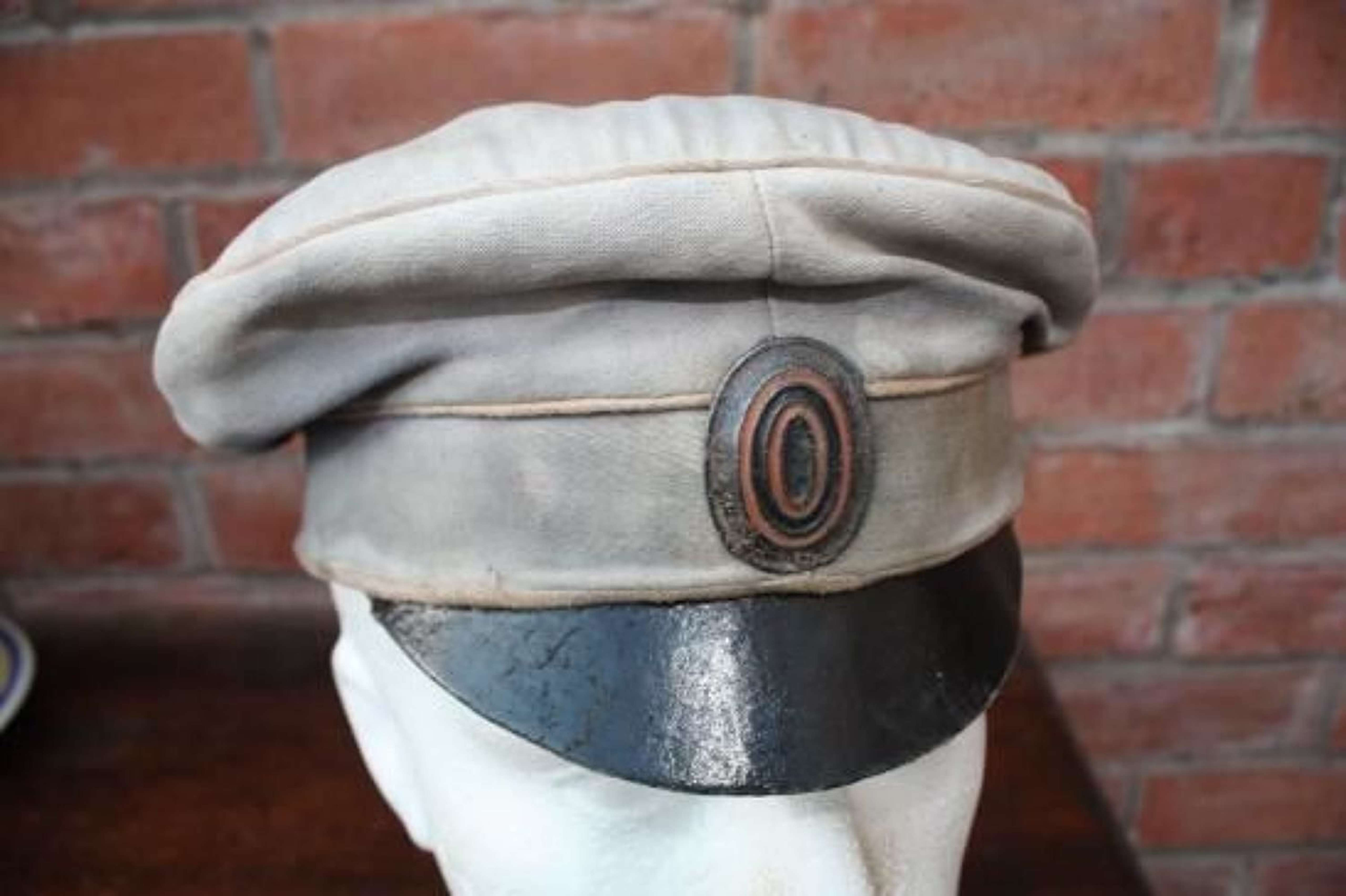 WW1 IMPERIAL RUSSIAN ARMY PEAKED CAP / WHITE ARMY CIVIL WAR