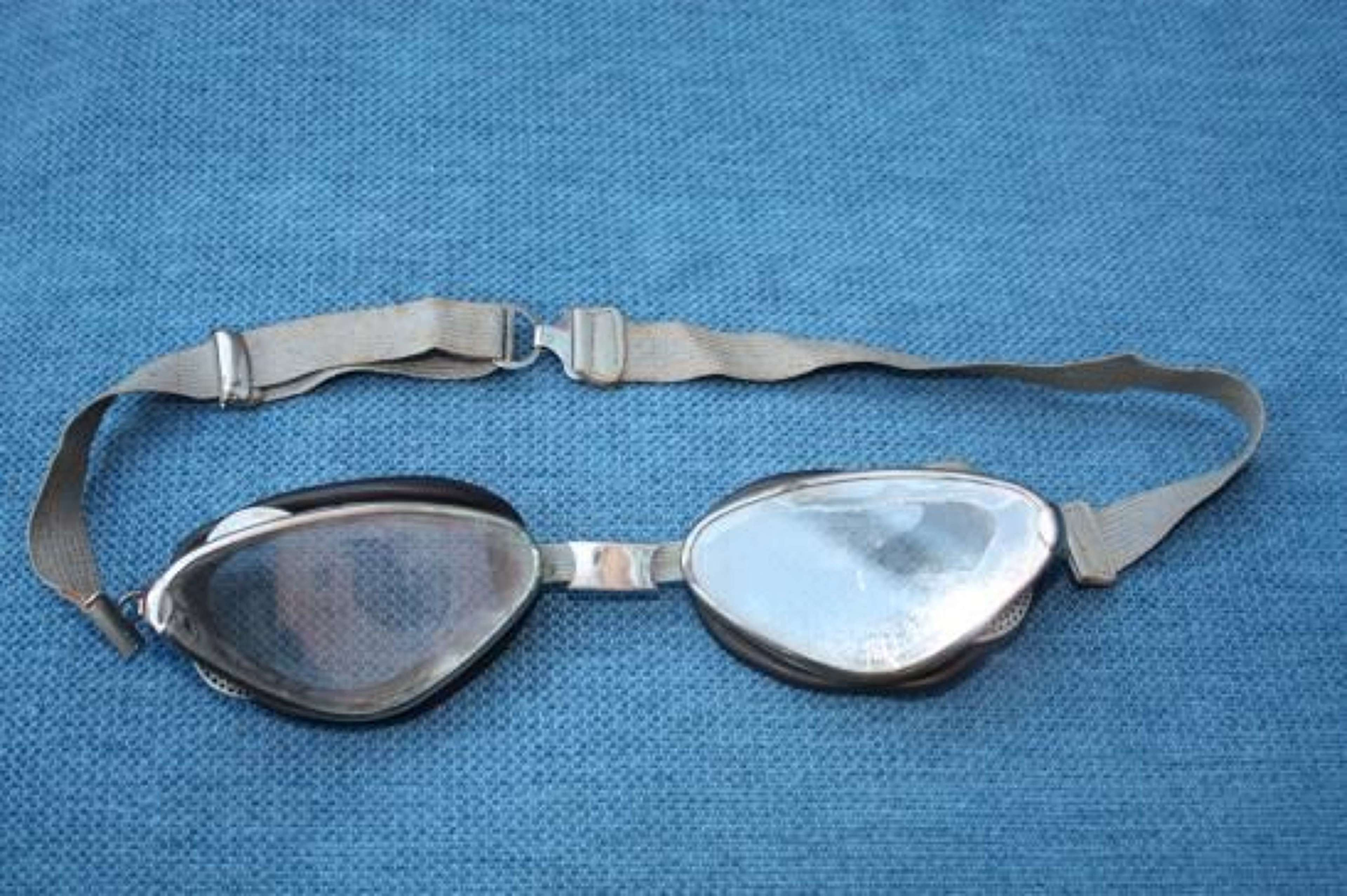 Vintage 1920's Art Deco Style French Goggles Aviation & Motoring. Chro