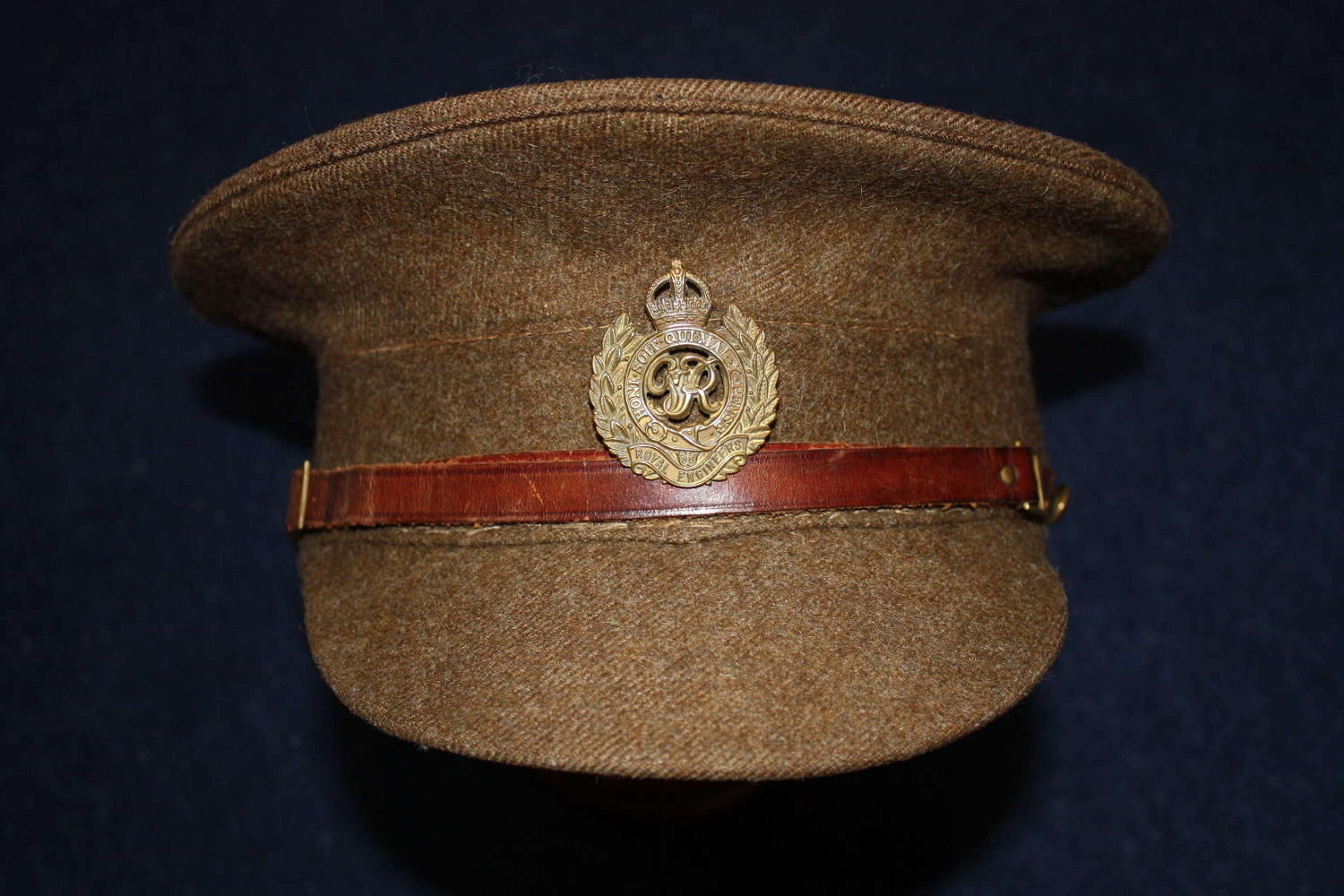 1905 Pattern WW2 British Other Ranks Khaki Service Dress Cap
