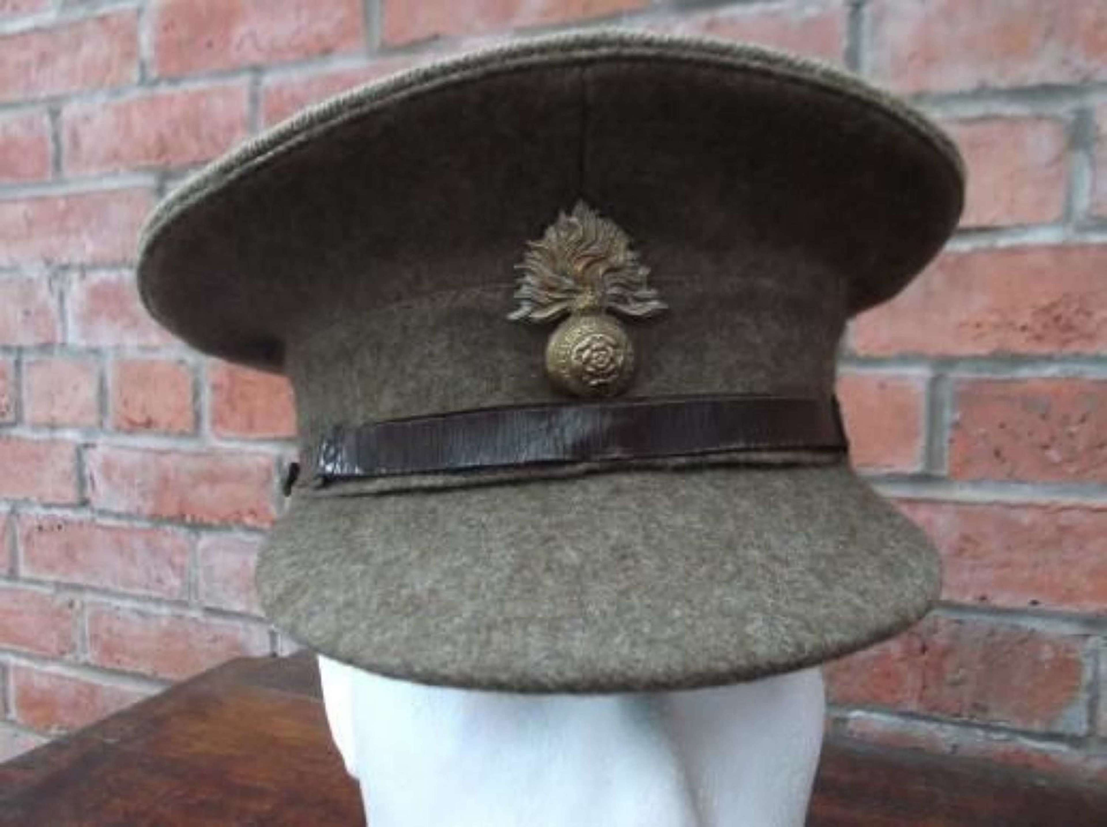 1922 PATTERN BRITISH KHAKI SERVICE DRESS CAP ROYAL FUSILIERS