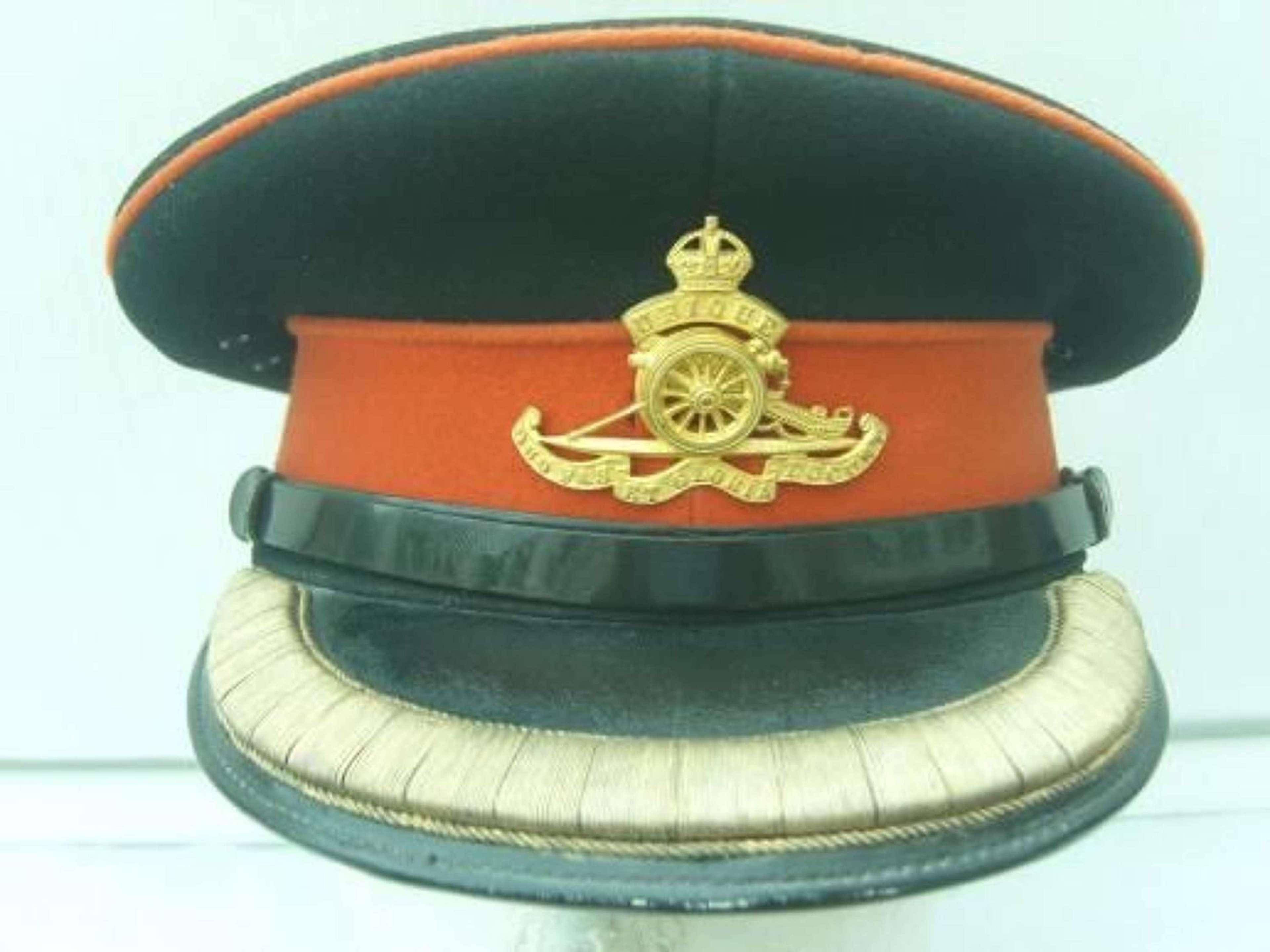 BRITISH ARMY ROYAL ARTILLERY OFFICERS DRESS CAP