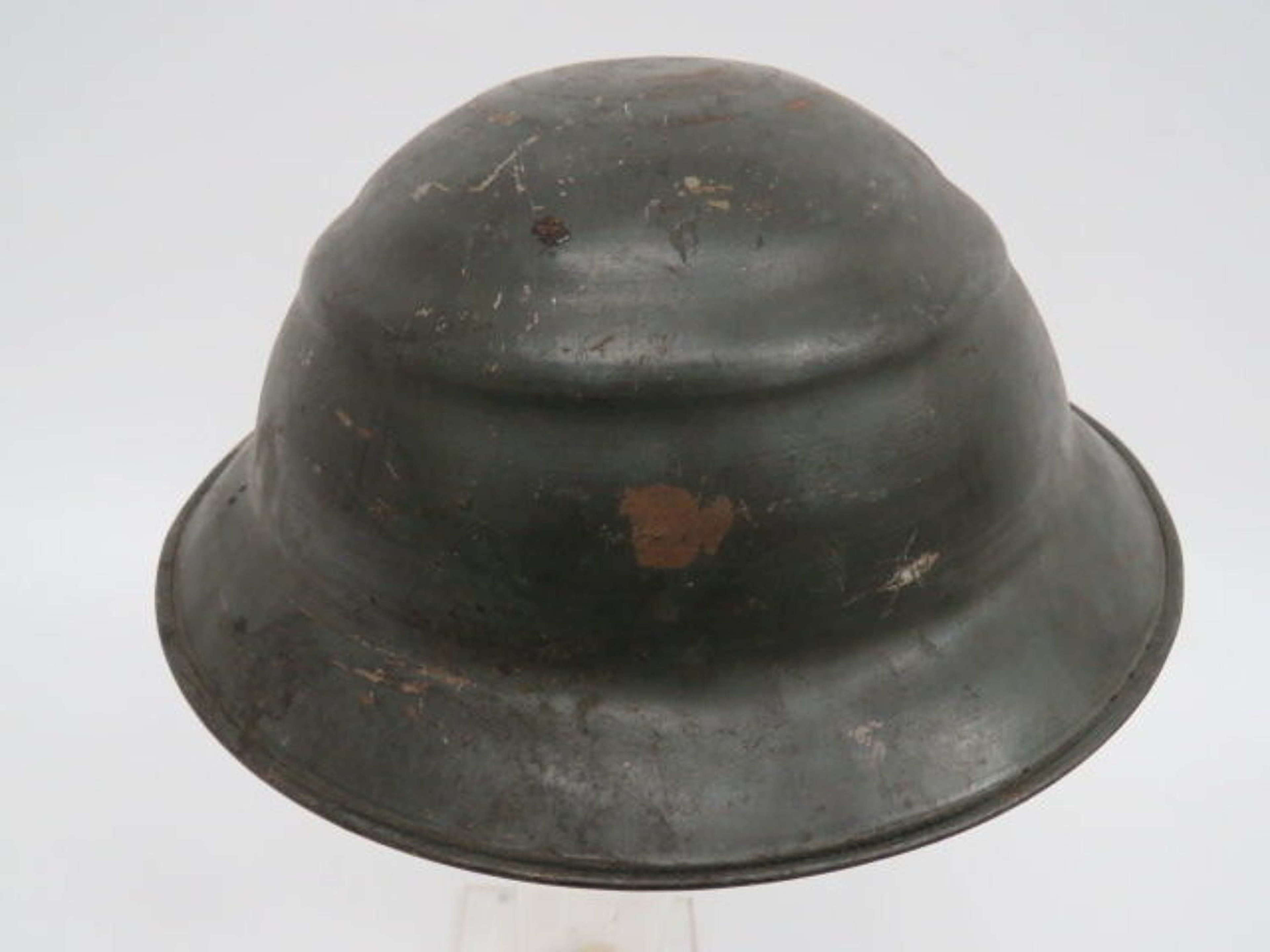 Scarce Civil Defence Private Purchase Ridged Crown Helmet