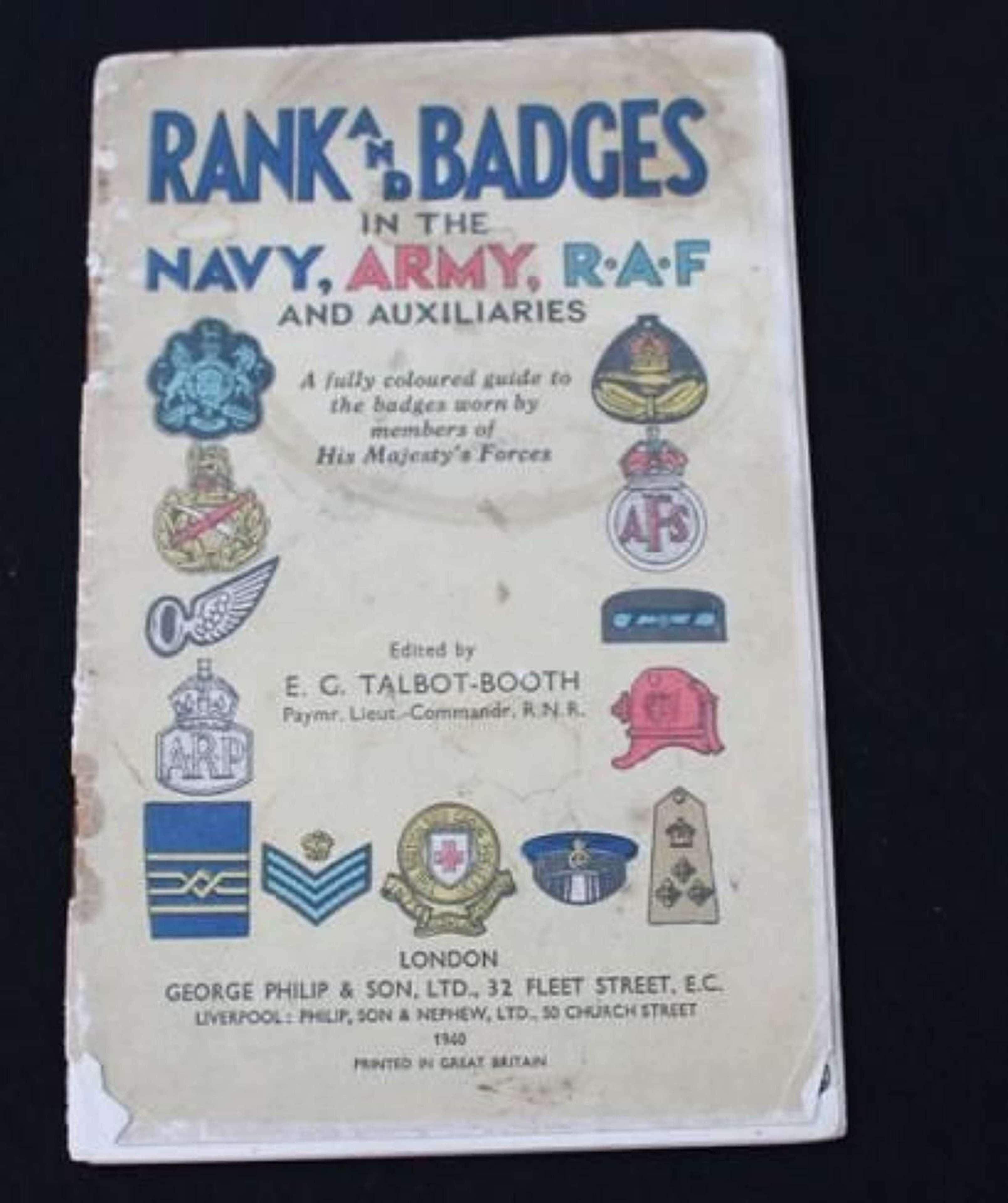 Rank and Badges in the Army, Navy, RAF and Auxilaries