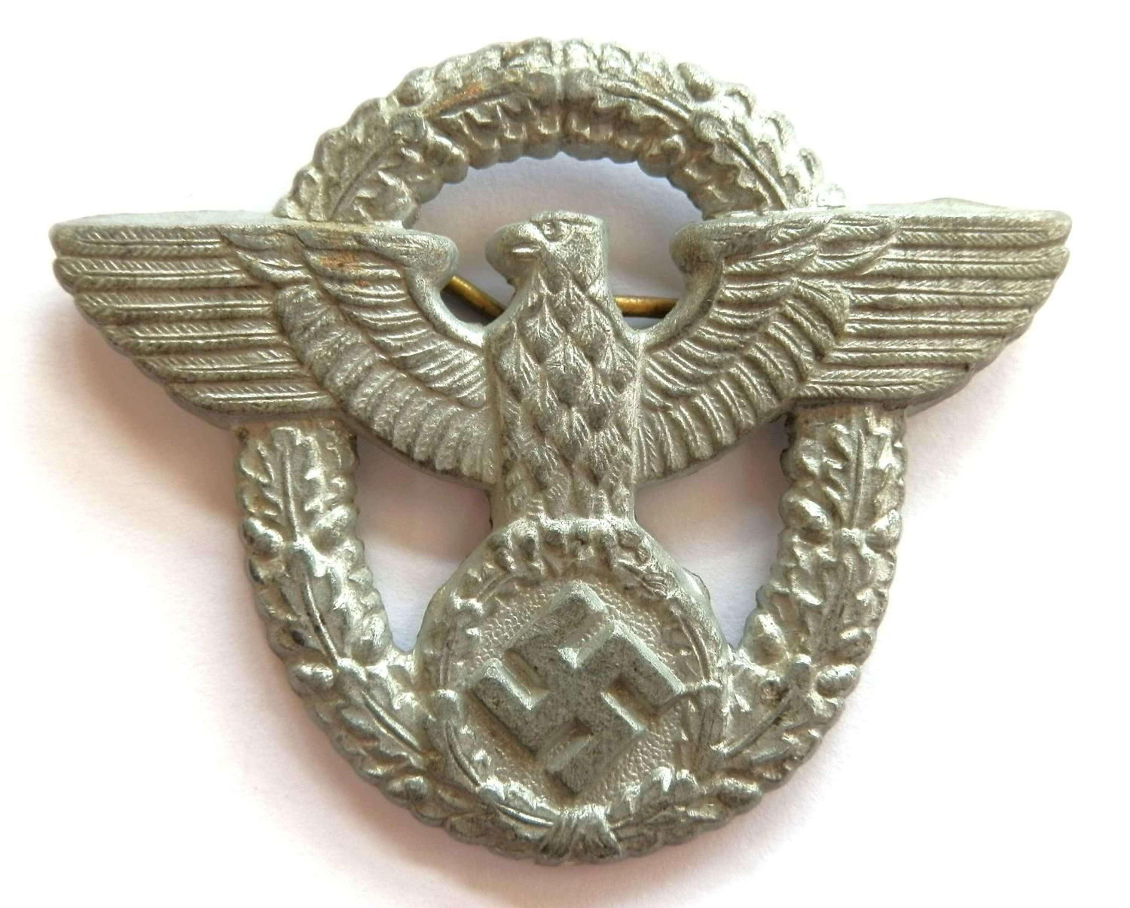 German Reich Police WWII Cap Eagle.