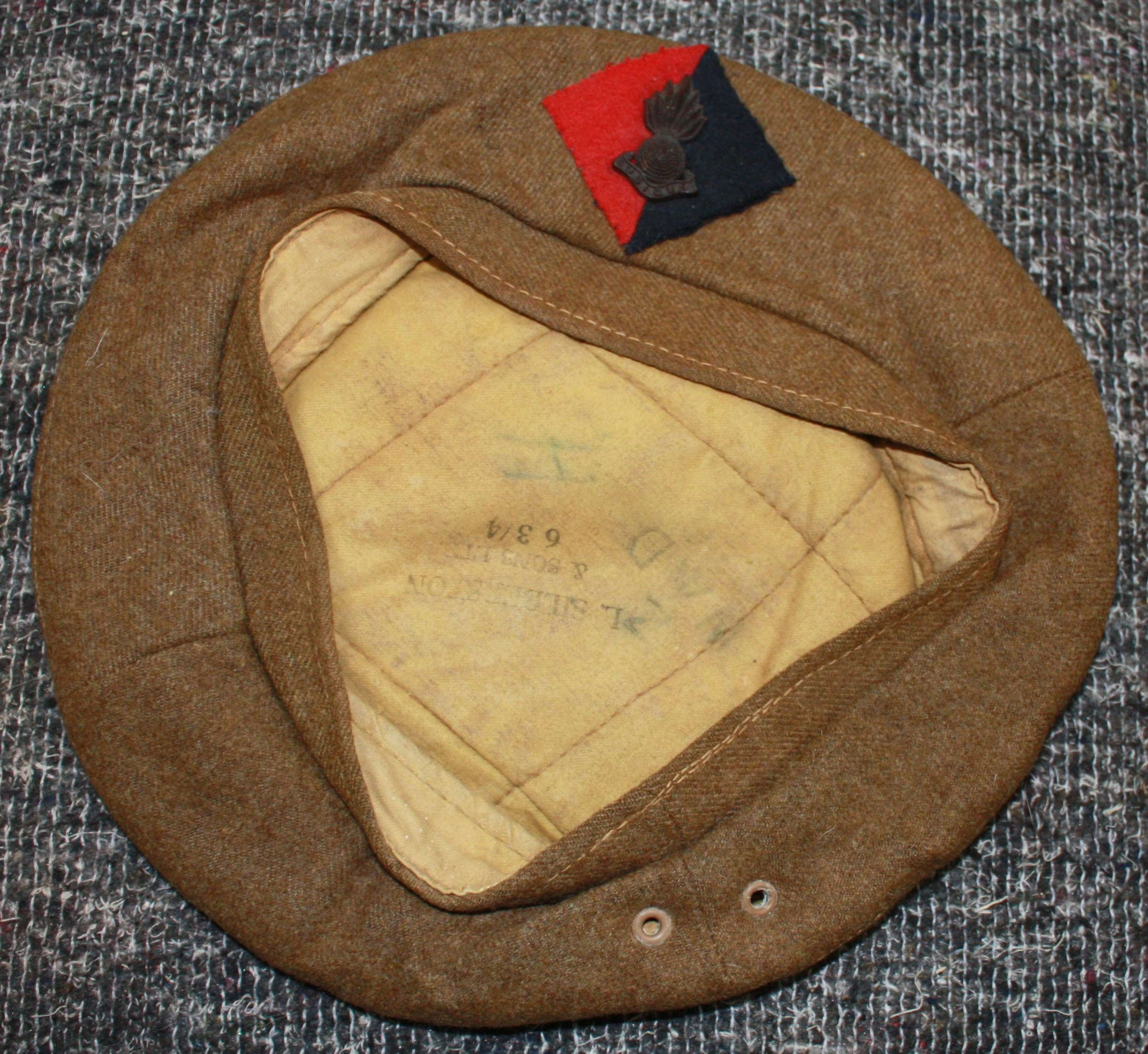A GOOD LATE WWII RA GS BERET 1945