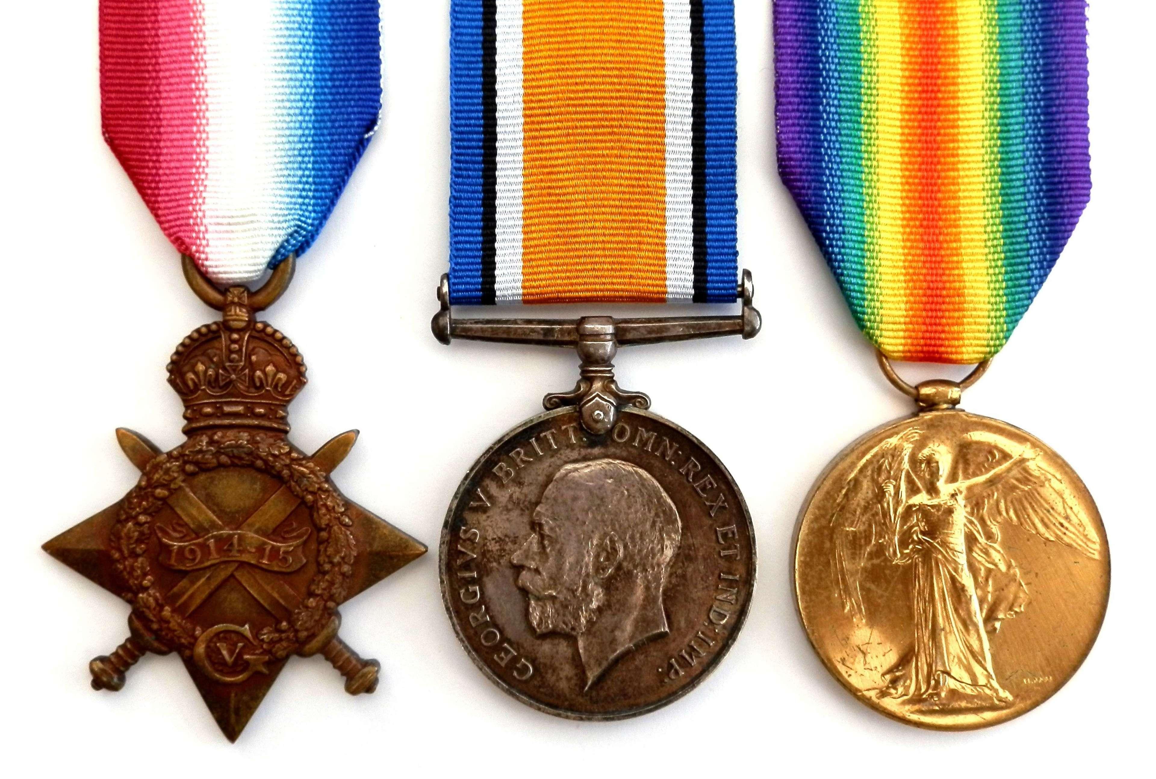 TRIO. Bandsman Alexander McLeod, 3rd Bn Royal Fusiliers. K.I.A.