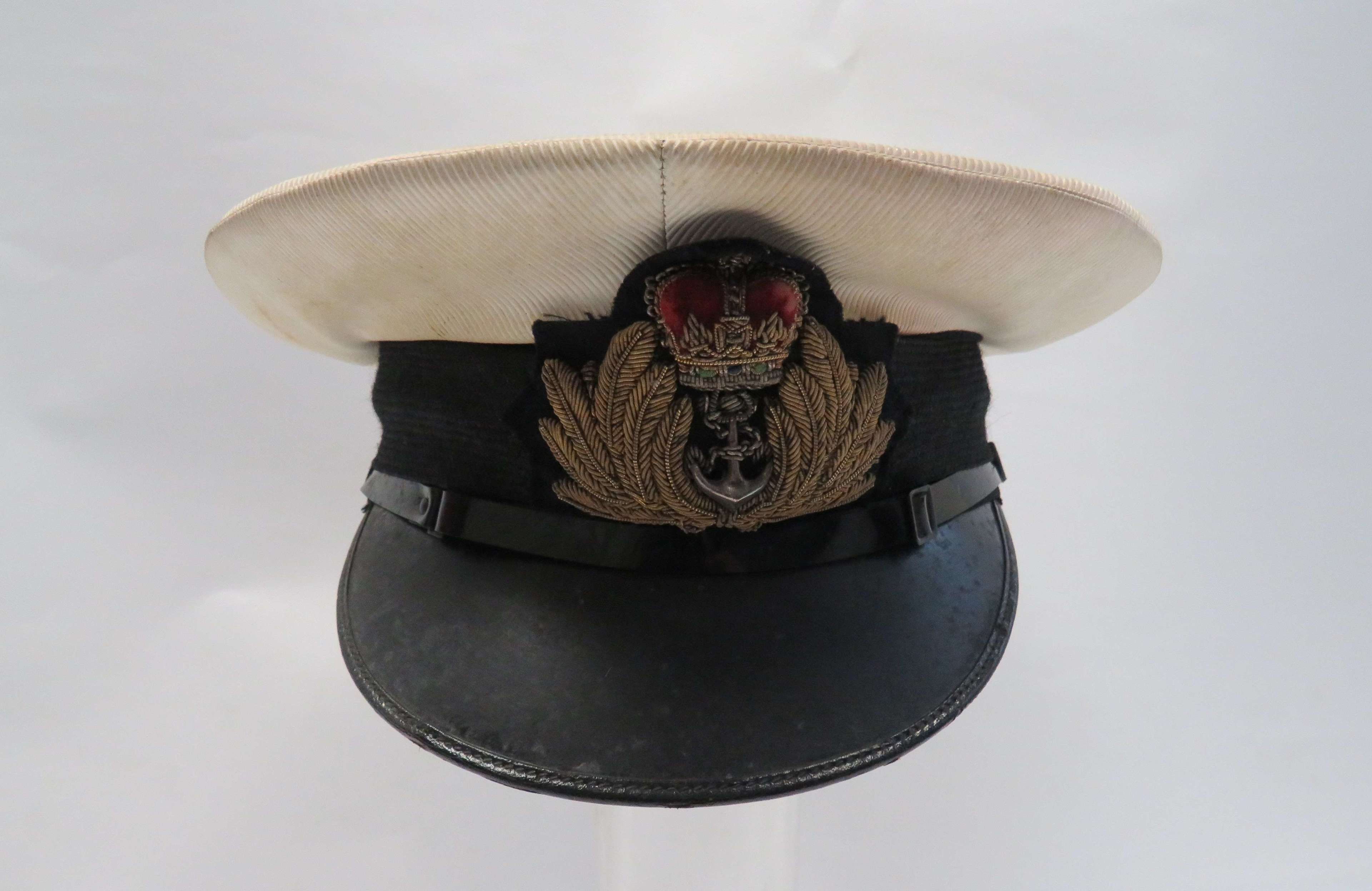 Post 1953 Royal Navy Officers Service Dress Cap