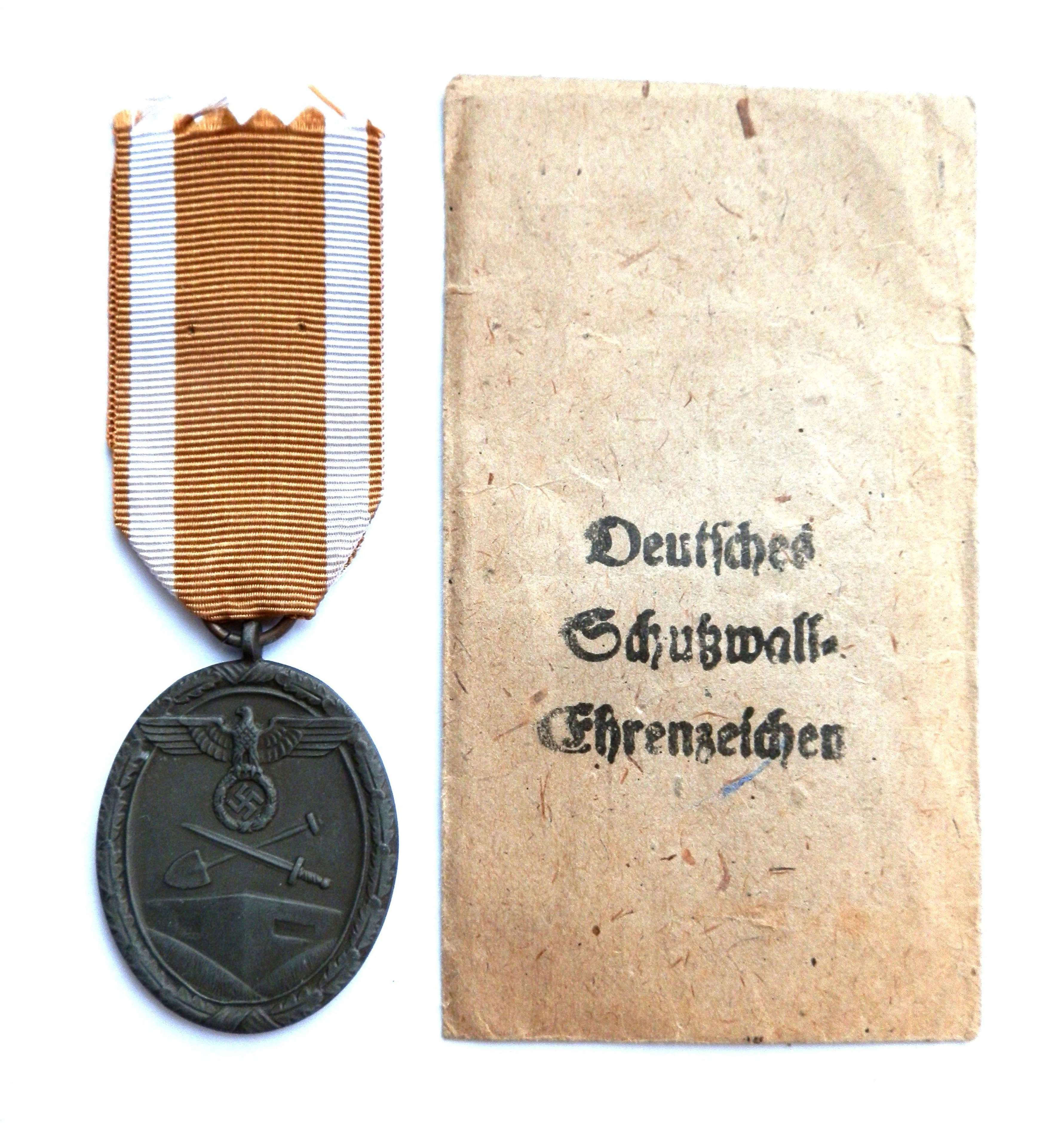 Great West Wall Medal.