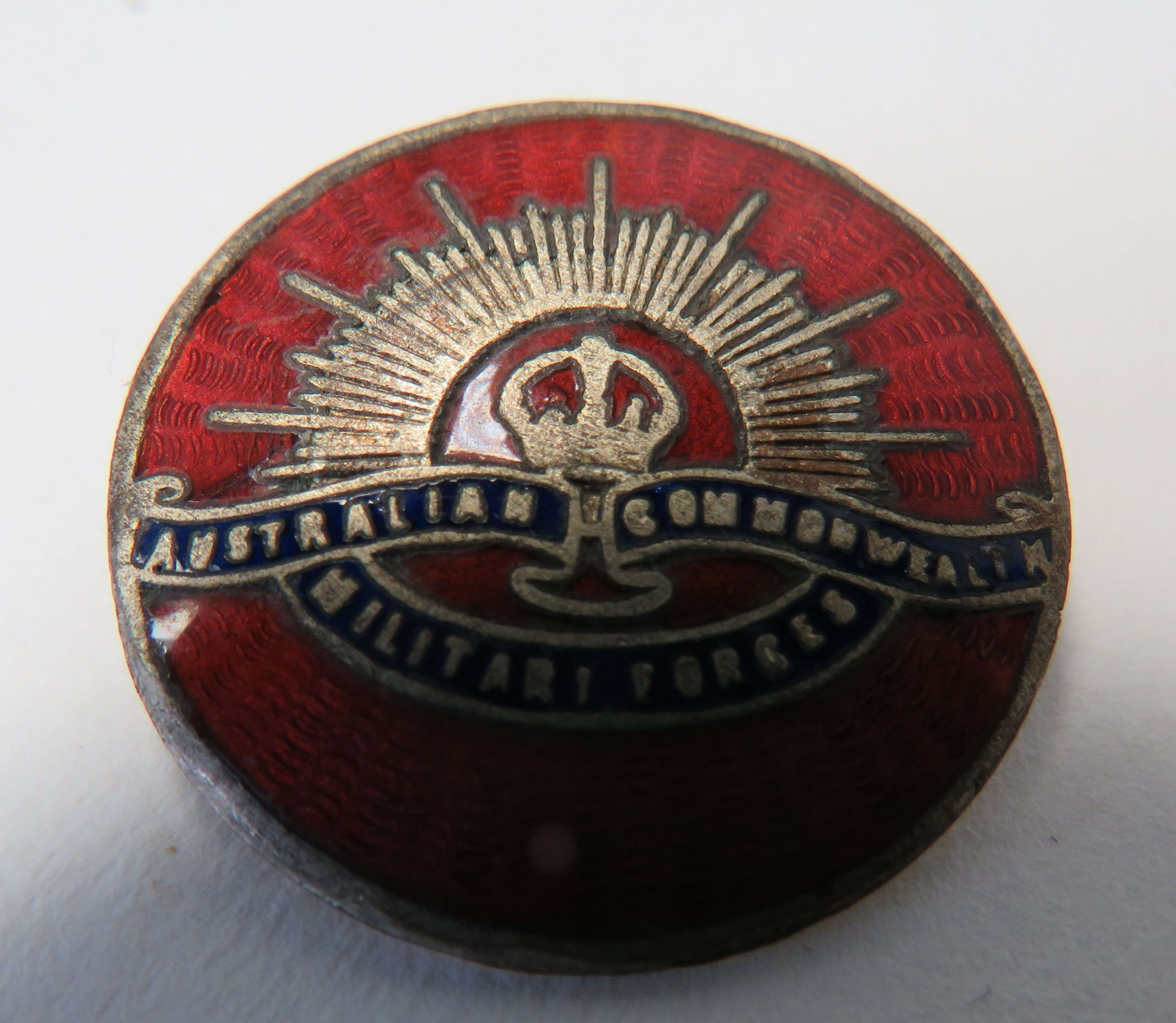 Australian Commonwealth Military Forces Lapel Badge
