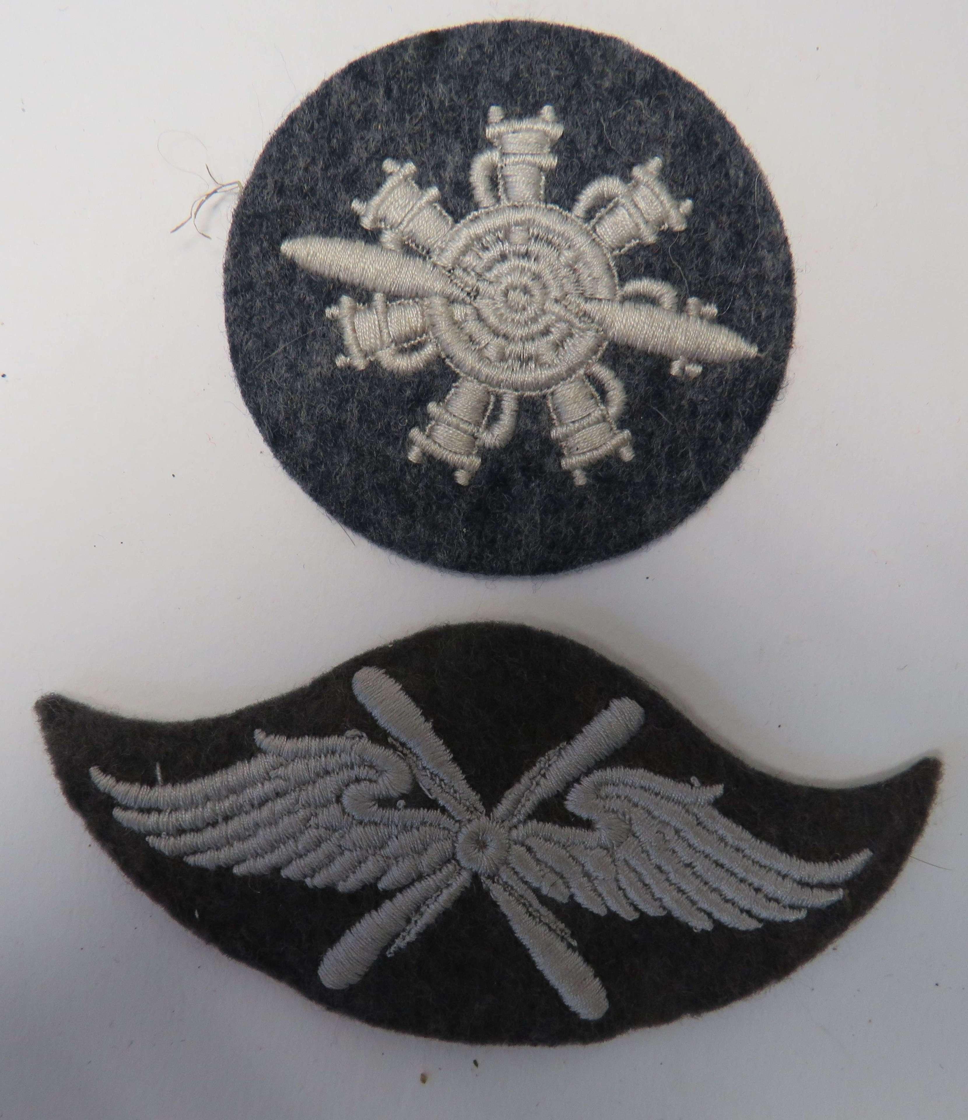 Two WW 2 Luftwaffe Arm Badges