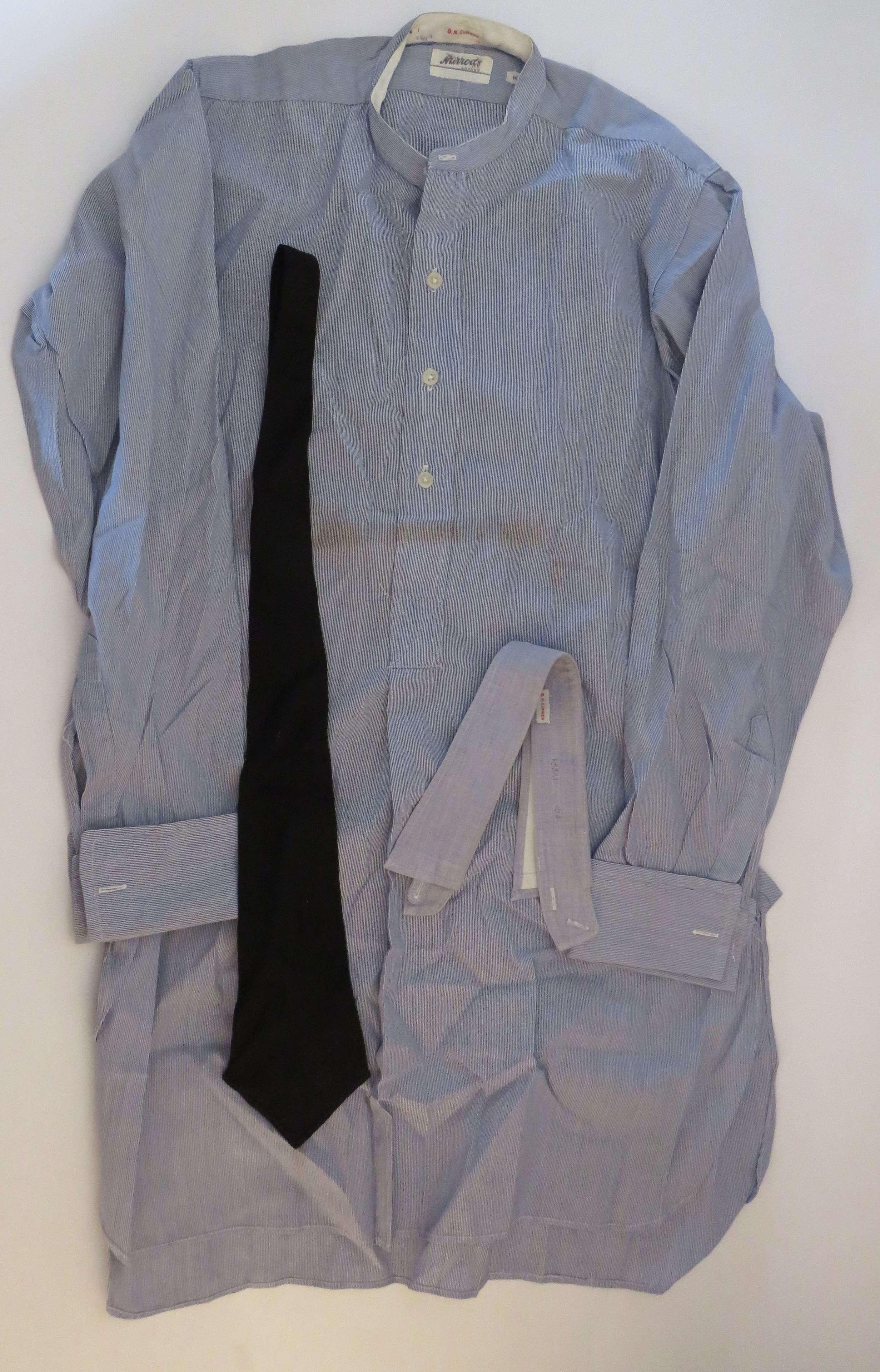 Interwar R.A.F / Civilian Blue Collarless Shirt and Tie