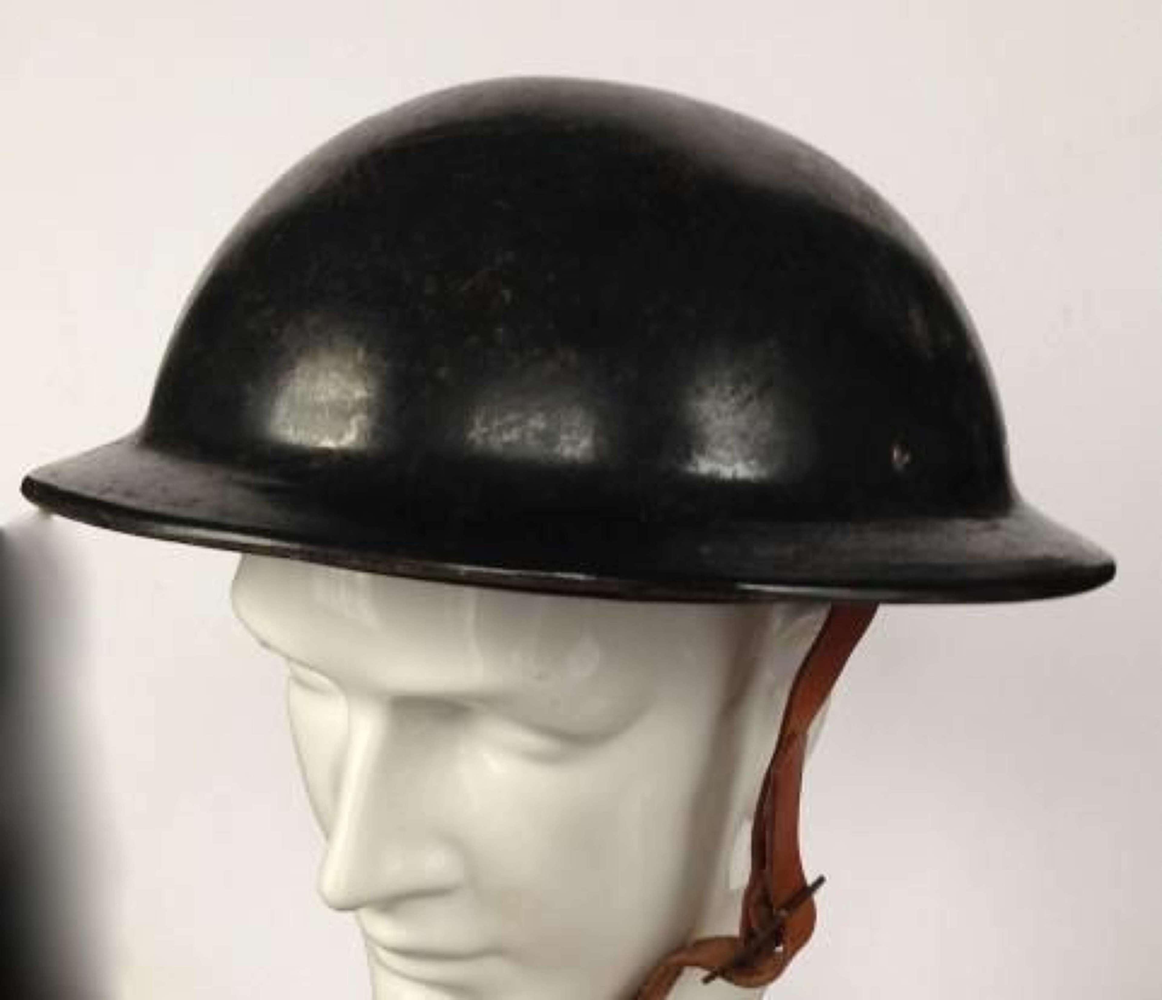 WW2 Home Front Civil Defence Fiber Helmet