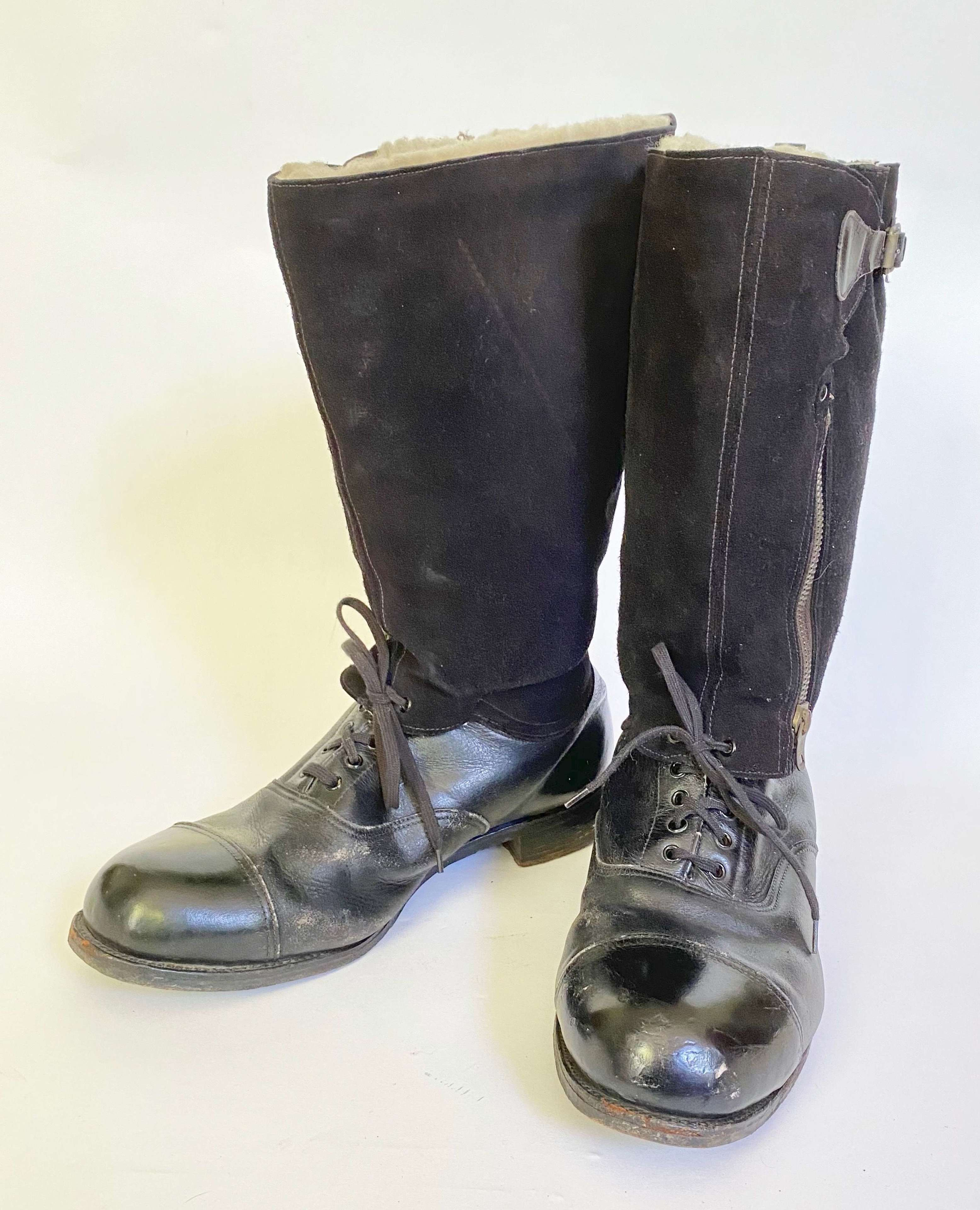 WW2 RAF Aircrew 1943 Pattern Escape Boots Large Size 14.