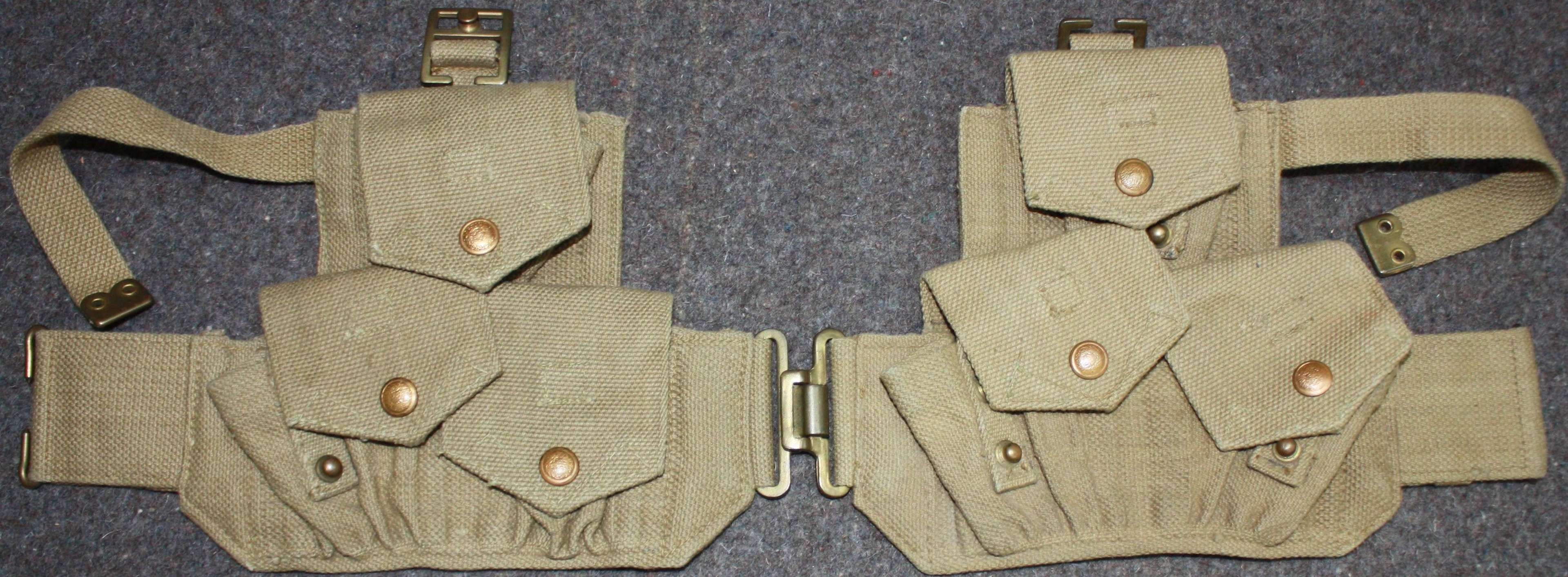 A PAIR OF 1940 CAVALRY PATTERN AMMO POUCHES