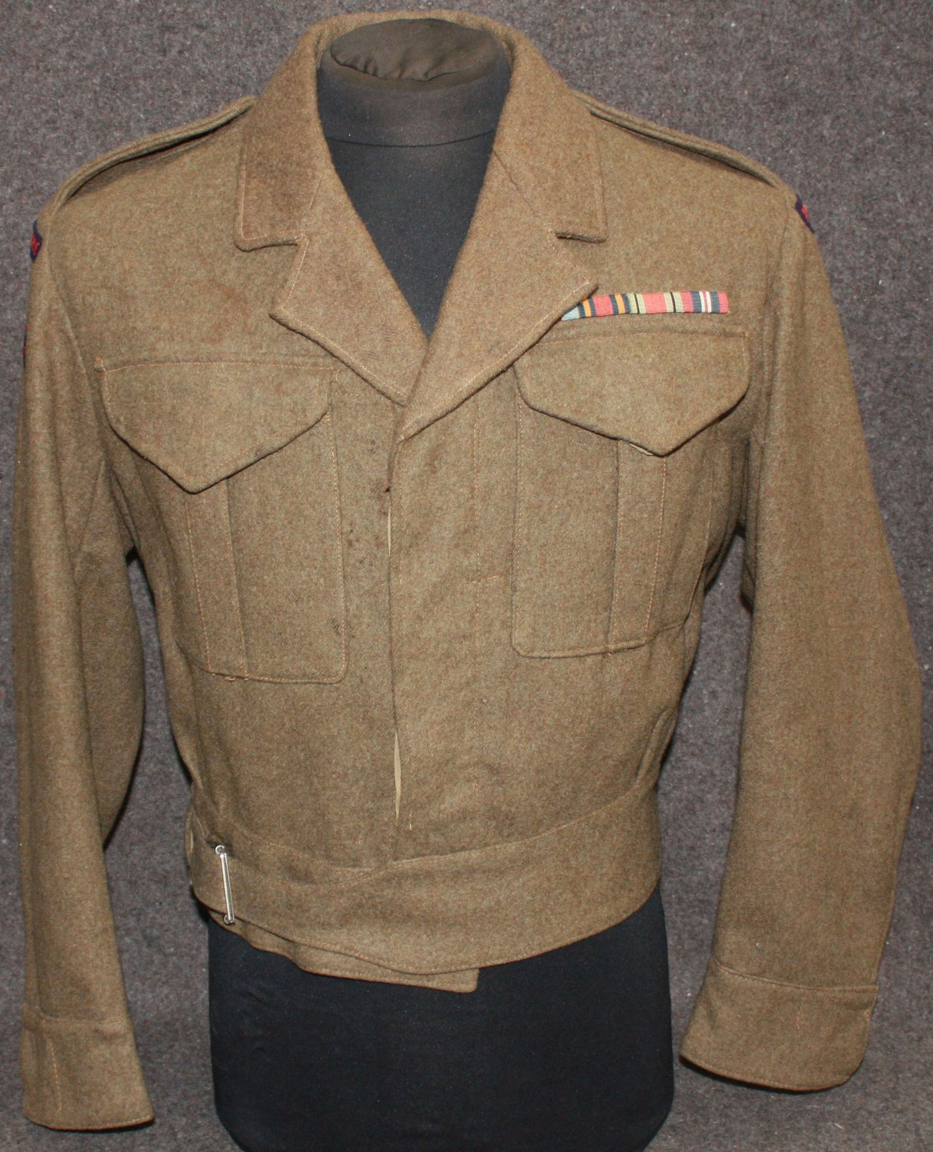 33rdFIELD REGT ROYAL ARTILLERYBATTLE DRESS BLOUSE ( SERGE )