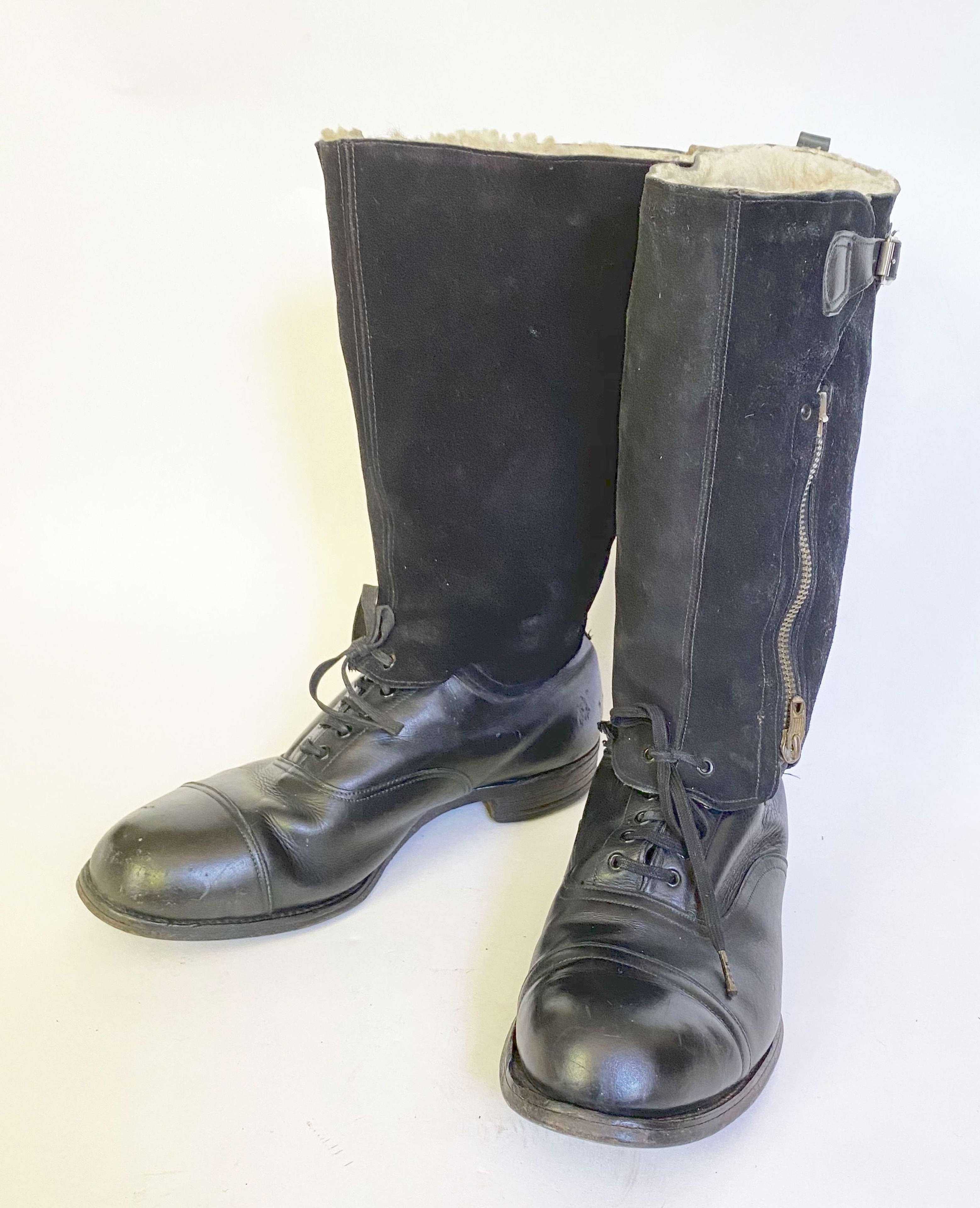 WW2 RAF Aircrew 1943 Pattern Escape Boots Size 9.