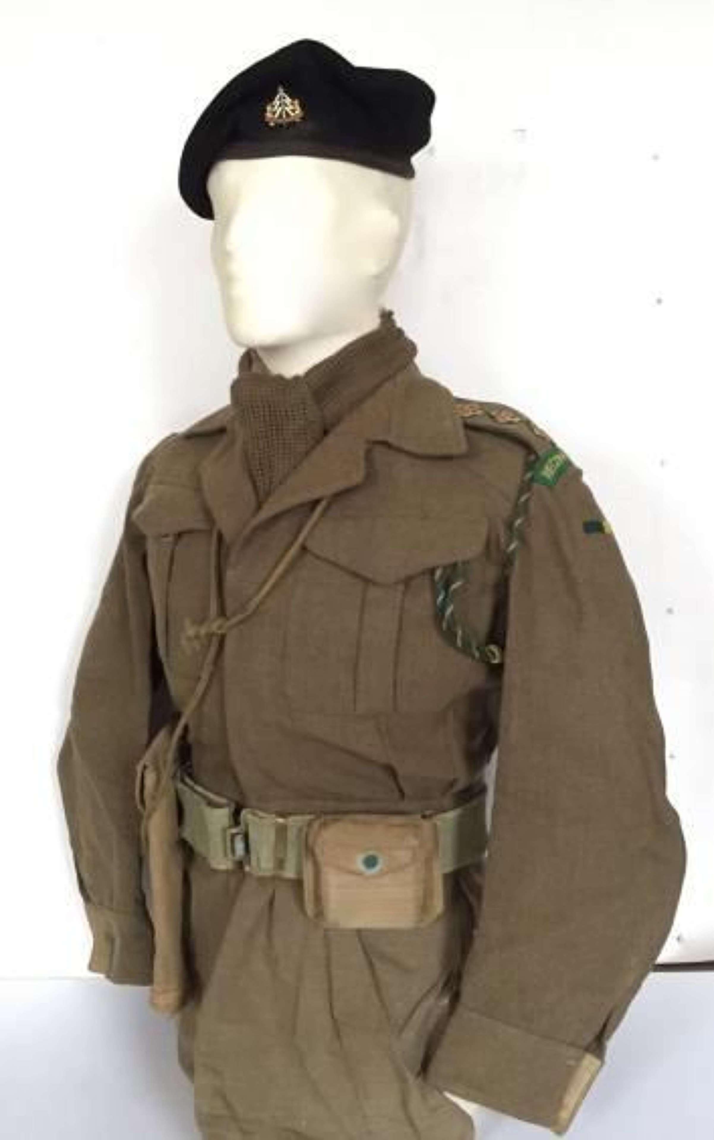 WW2 Period Reconnaissance Corps Officer's Battledress Uniform.